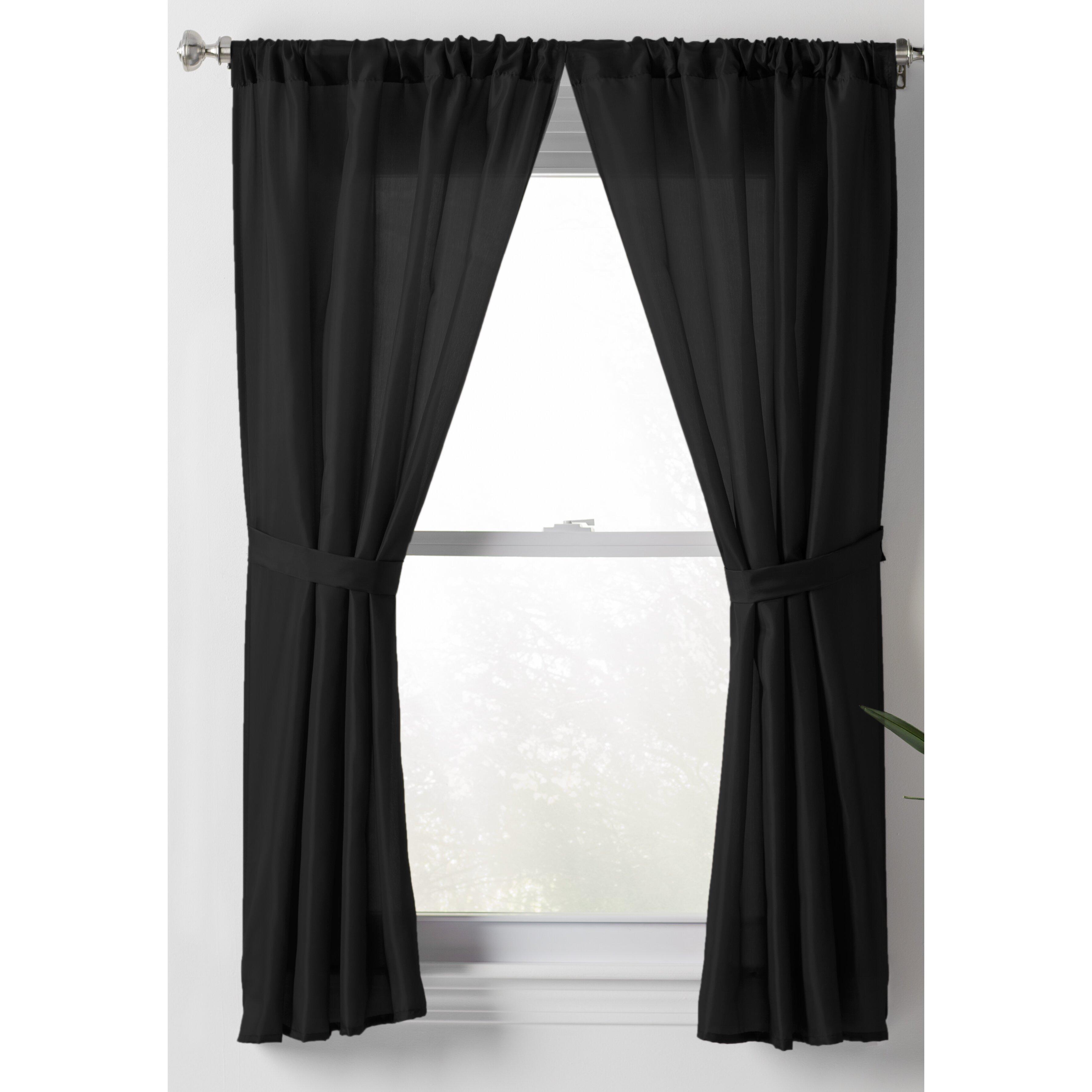 wayfair basics wayfair basics sheer rod pocket curtain panels