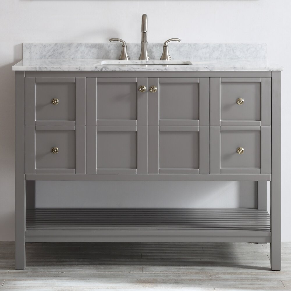 Florence 48  Single Bathroom Vanity Set. Bathroom Vanities You ll Love   Wayfair