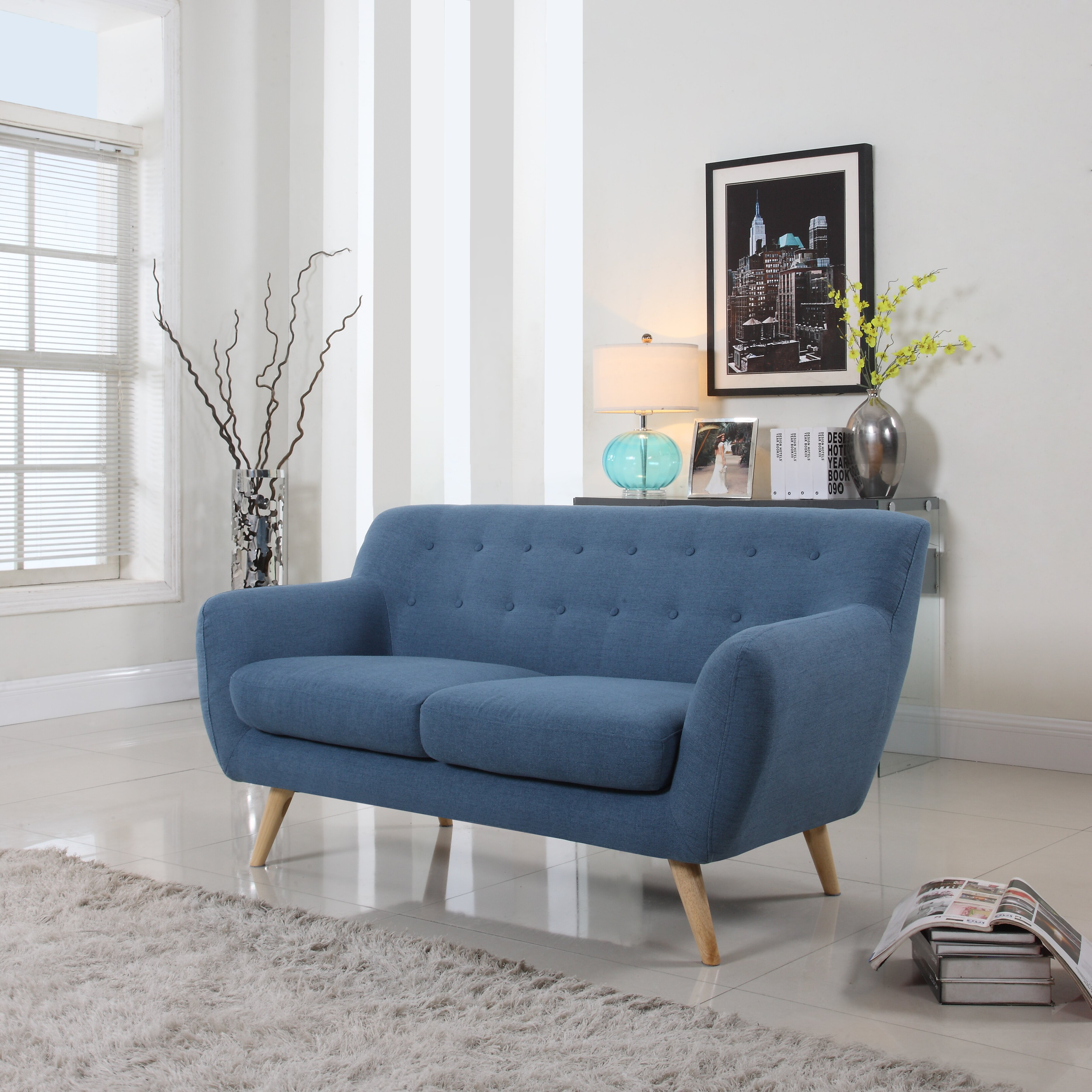 Madison Home USA Mid-Century Loveseat & Reviews