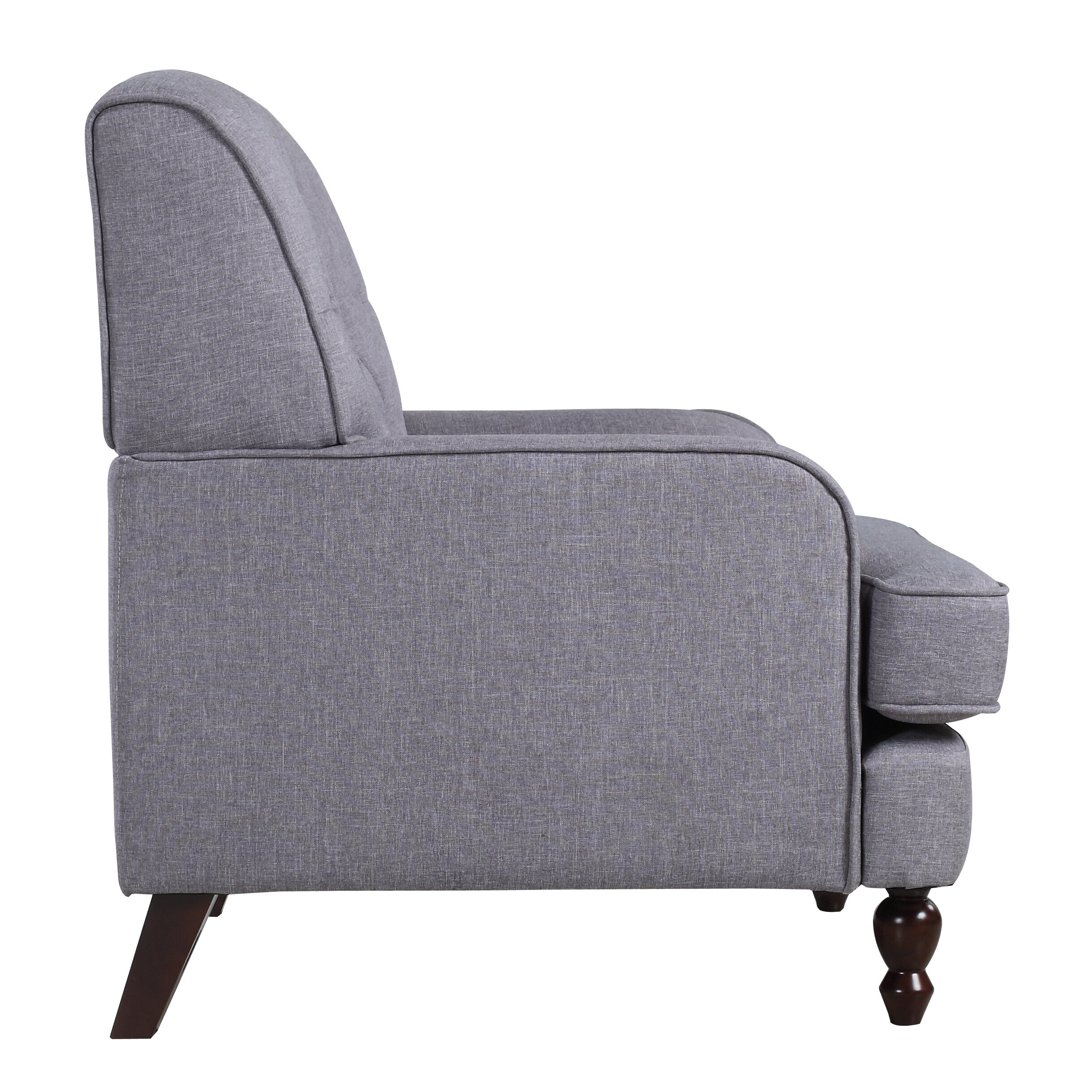 Madison Home USA Modern Tufted Fabric Living Room Arm Chair - Arm chairs living room