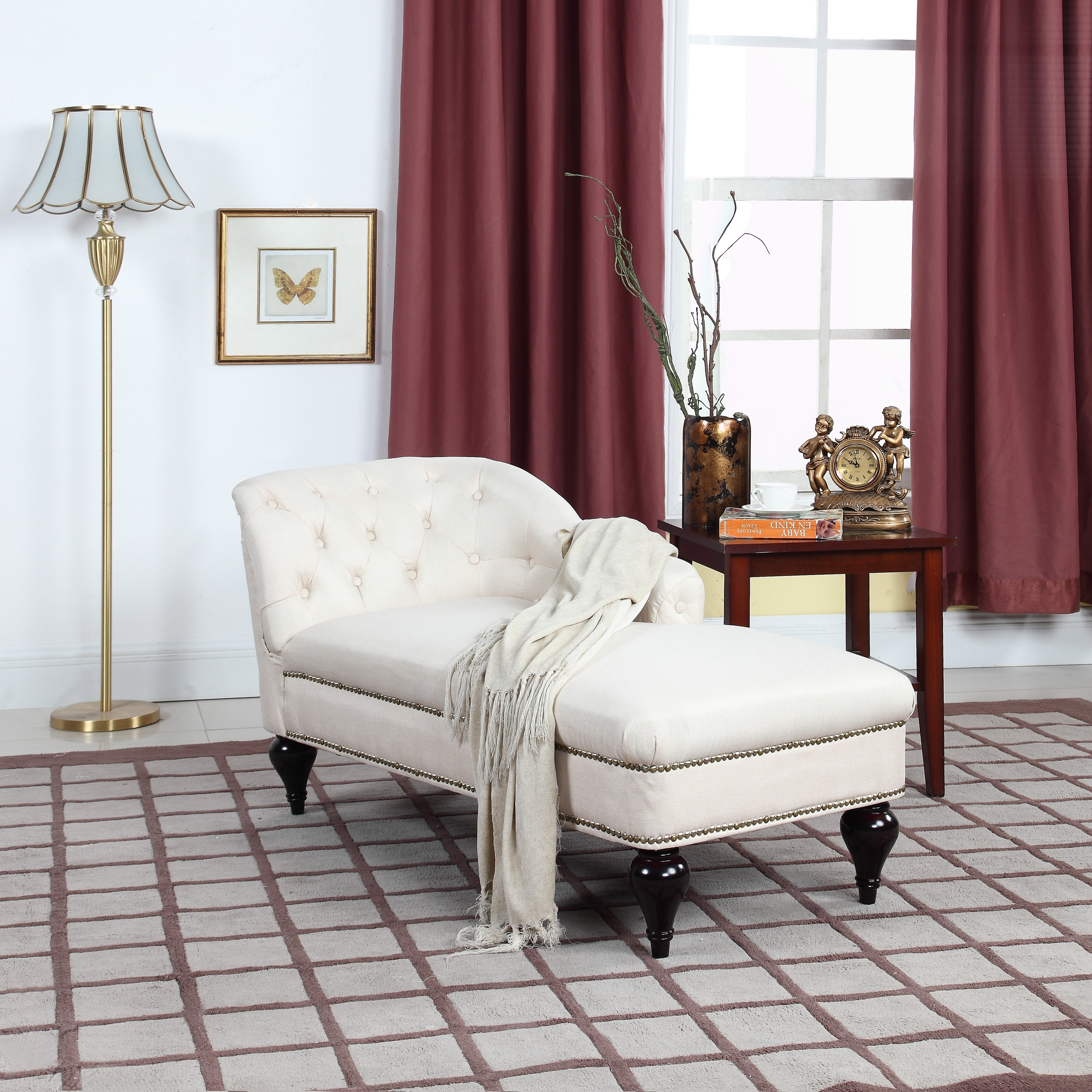 Living Room Chaise Lounge Madison Home Usa Modern And Elegant Chaise Lounge Reviews Wayfair