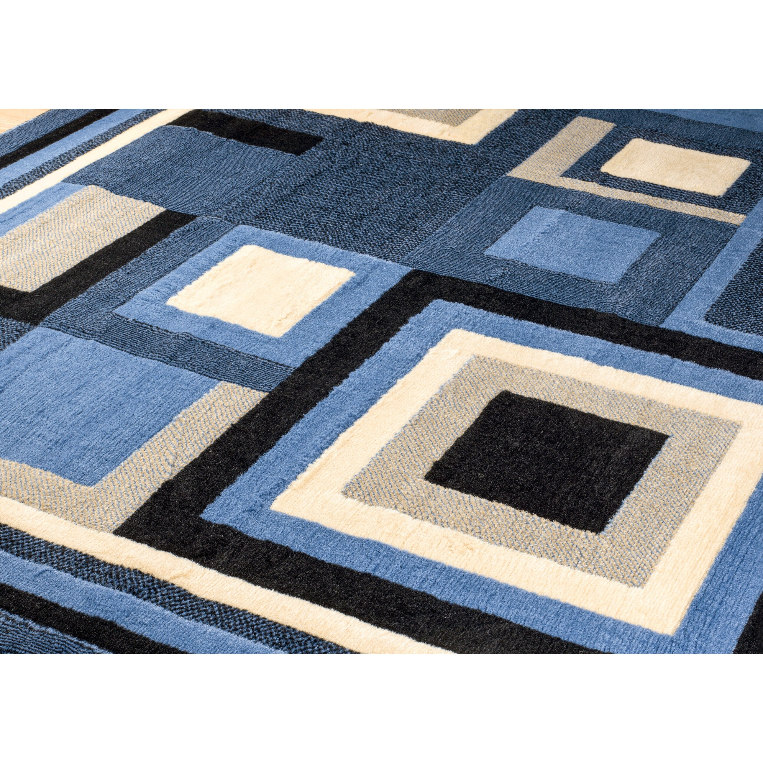 Persian Rugs Royal Contemporary Blue Area Rug Amp Reviews