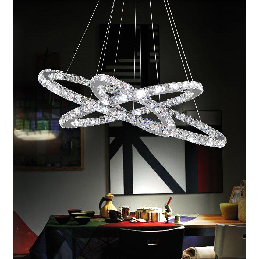 CrystalWorld Ring LED Light Crystal Chandelier Reviews – Led Light Chandelier