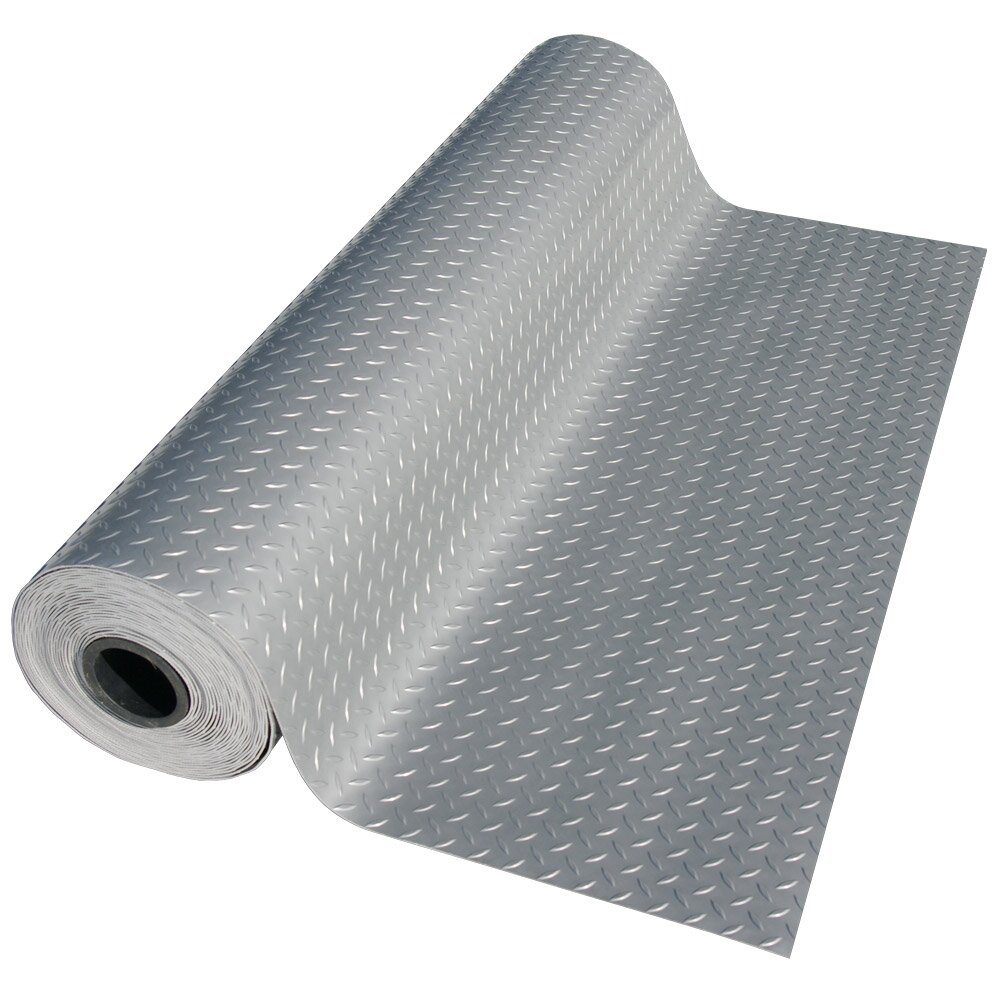 Rubber floor mats workshop - Rubber Cal Inc Metallic Quot Diamond Plate Quot Silver 4ft X