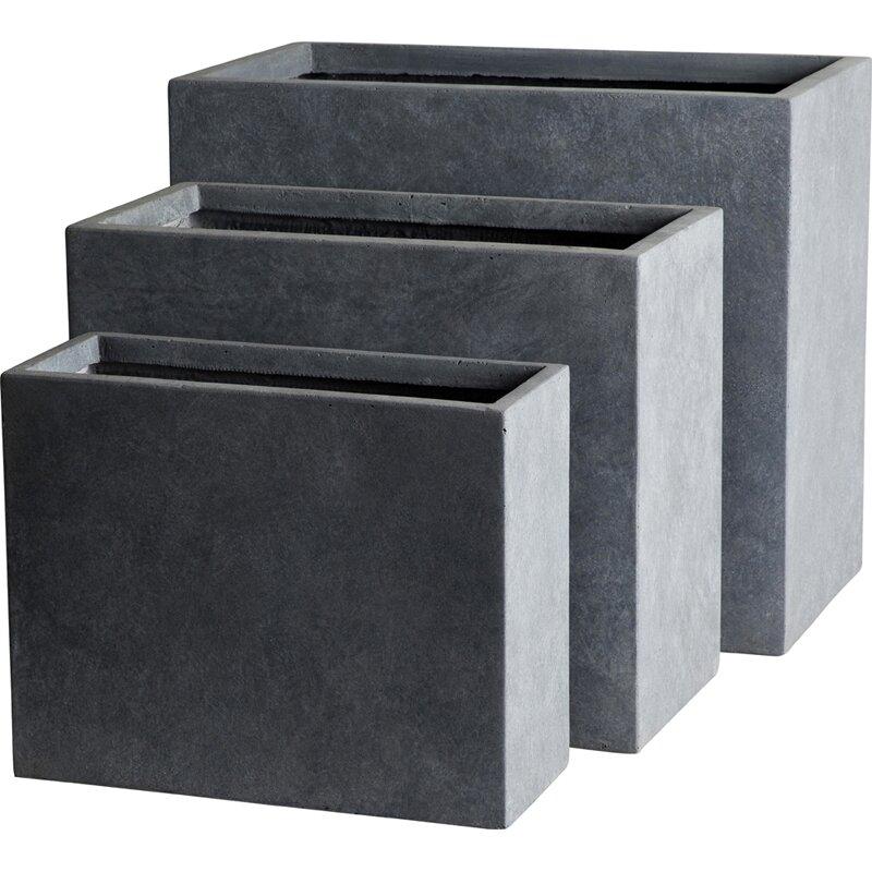 lakasallc modern composite planter box reviews wayfair. Black Bedroom Furniture Sets. Home Design Ideas