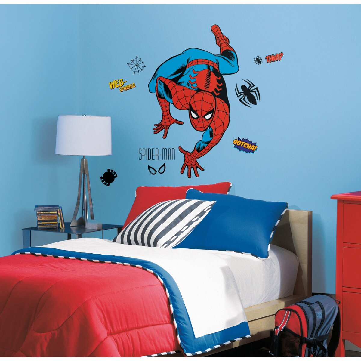 Marvel wall decals roselawnlutheran wallhogs marvel comics spiderman classic wall decal amipublicfo Gallery