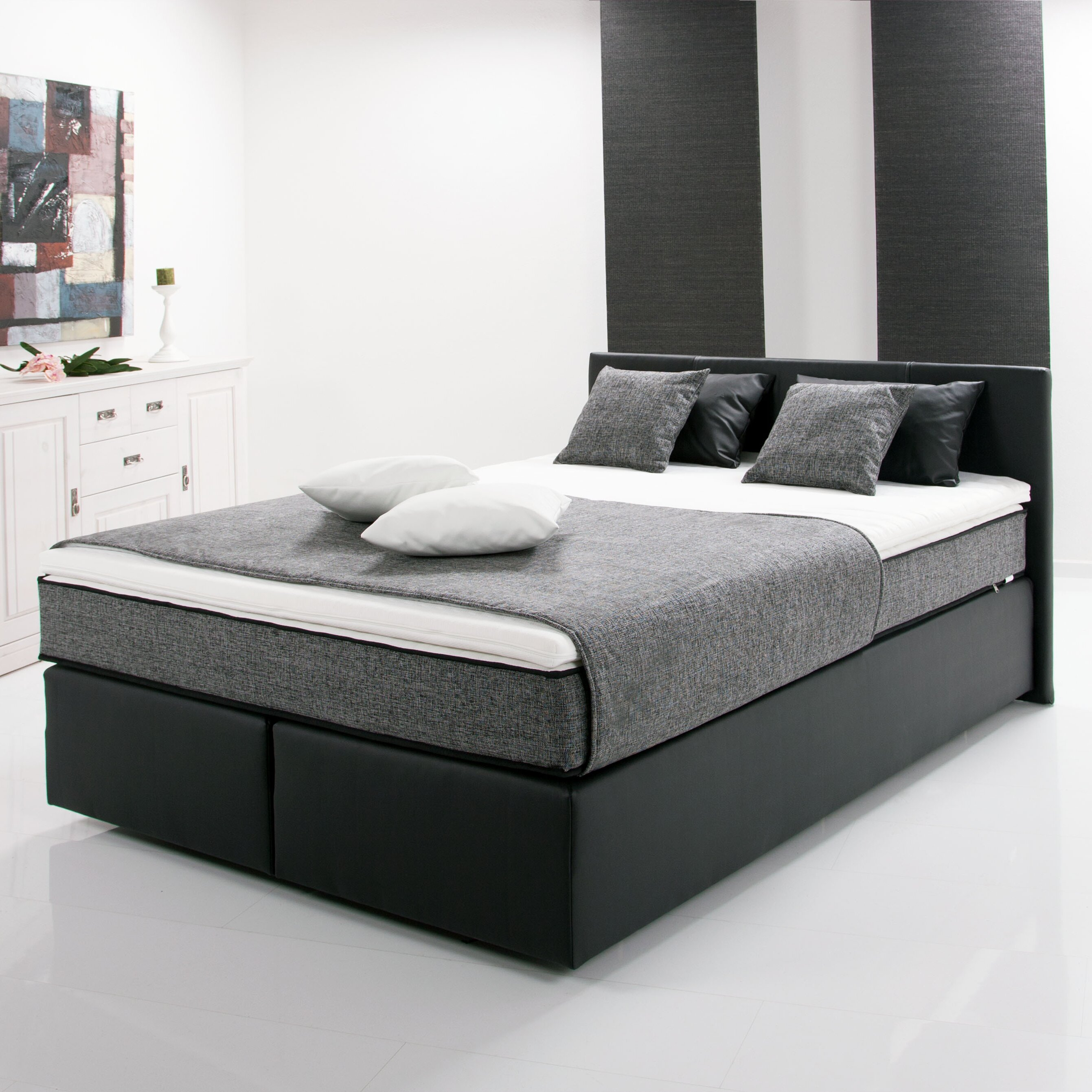 breckle boxspringbett pluto mit topper bewertungen. Black Bedroom Furniture Sets. Home Design Ideas