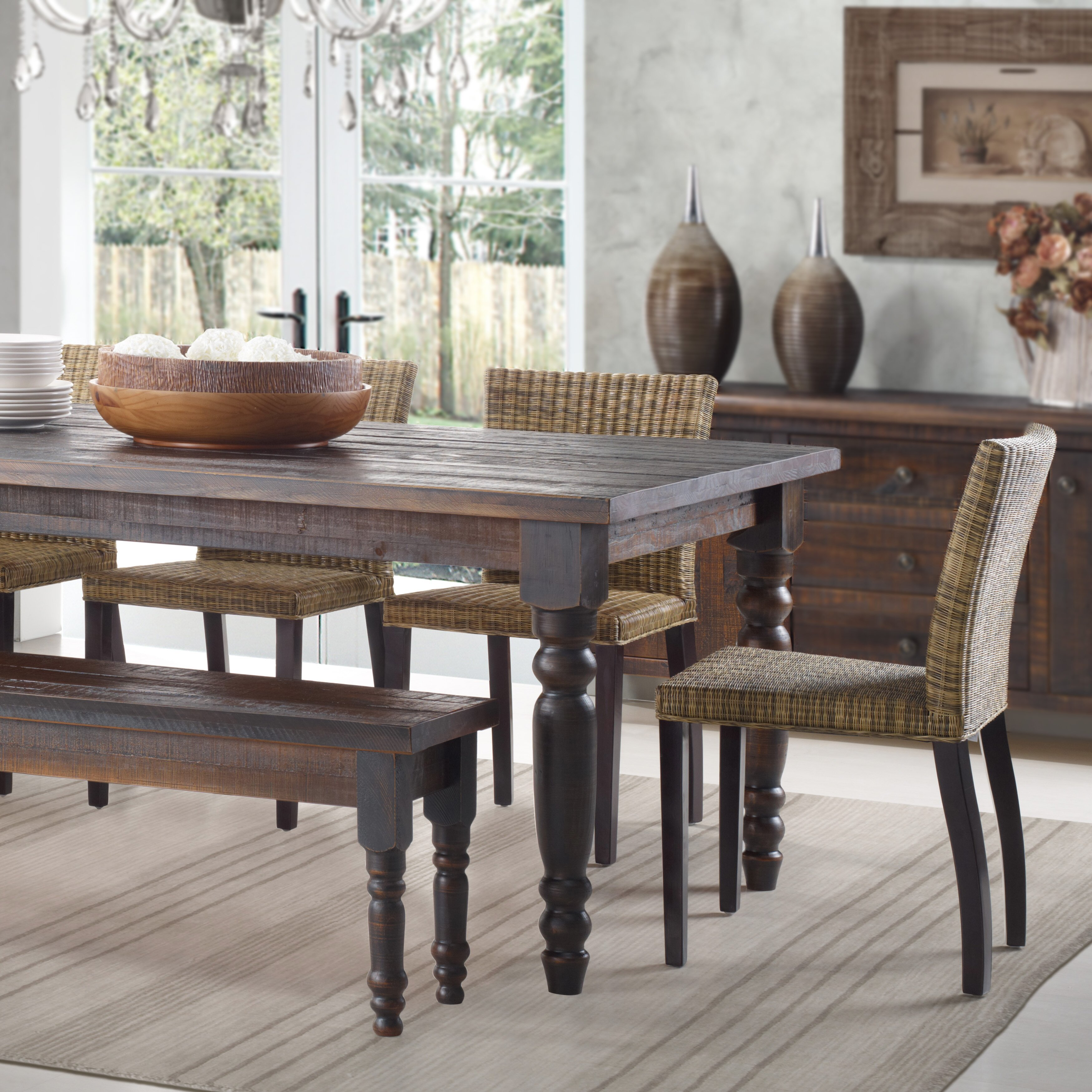Wooden Kitchen Table Set Grain Wood Furniture Valerie Dining Table Reviews Wayfair