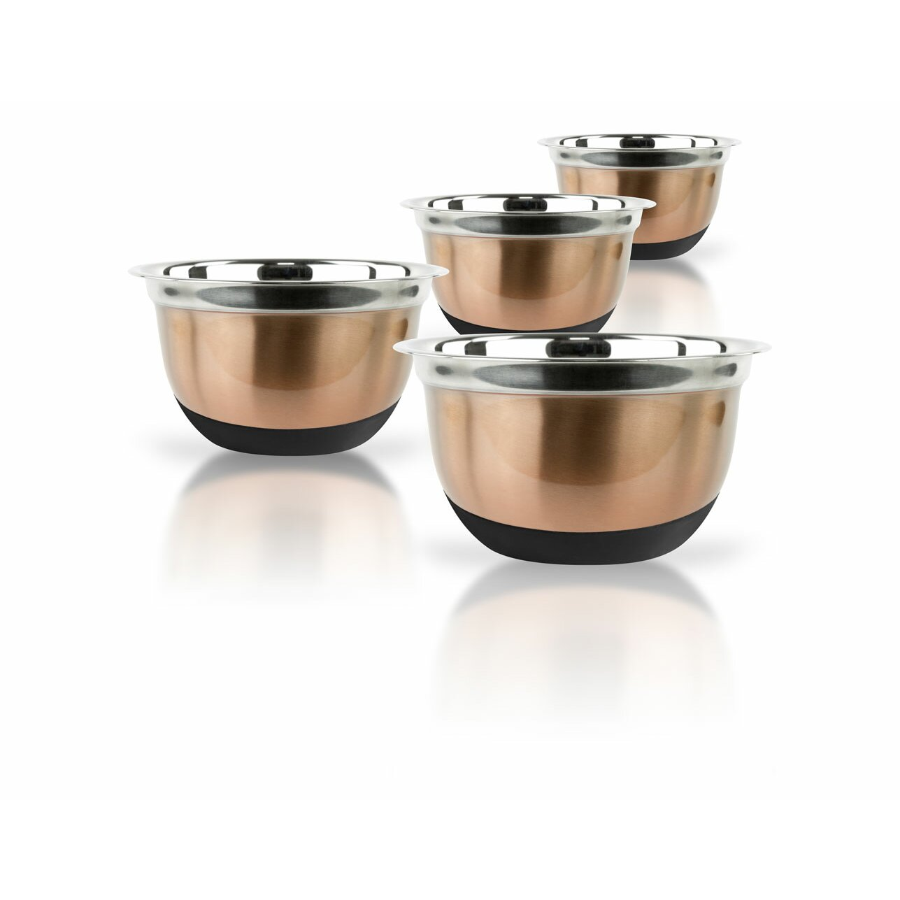 4 Piece Kitchen Appliance Set Imperial Home 4 Piece Stainless Steel Mixing Bowls Set Reviews