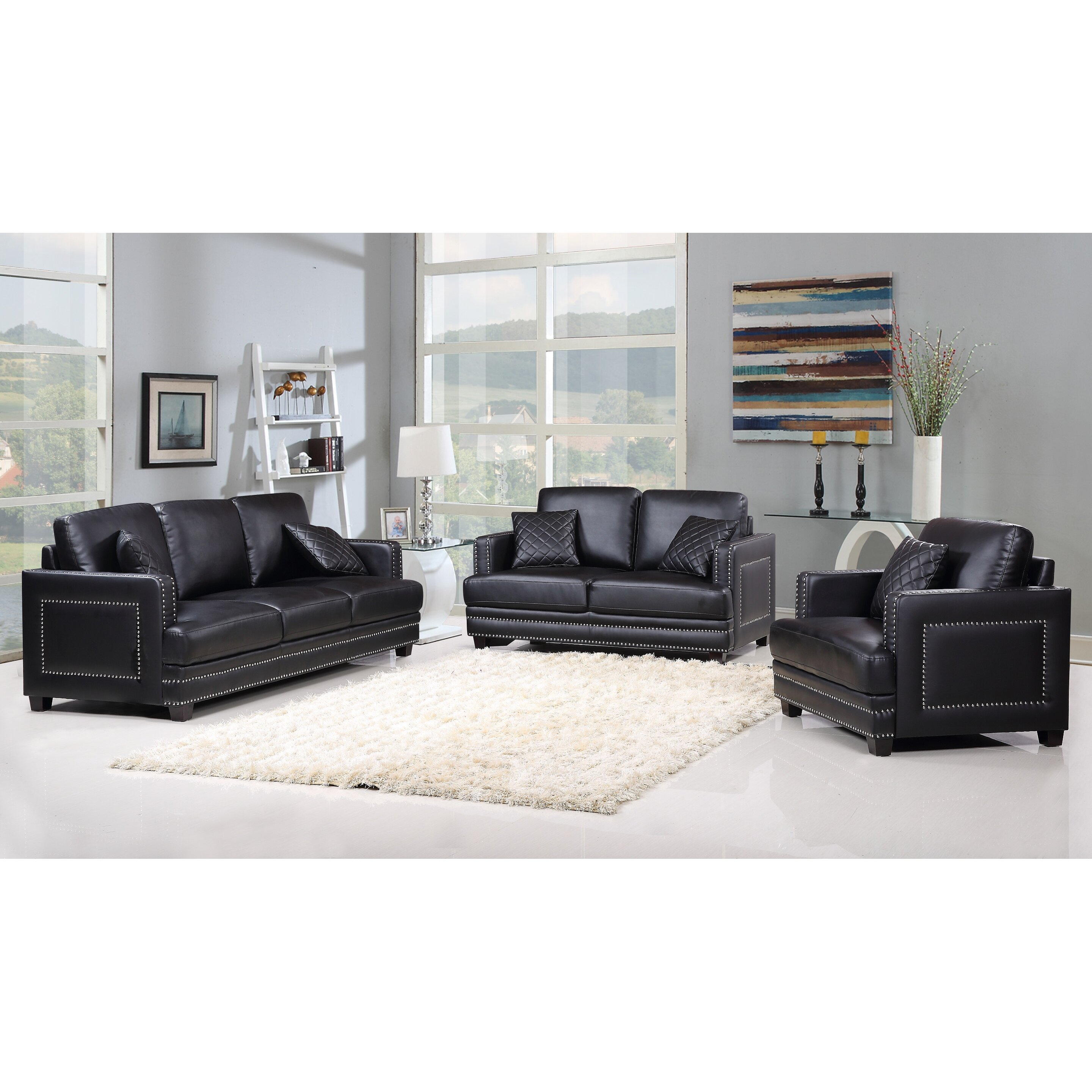 Meridian furniture usa ferrara nailhead sofa reviews for J furniture usa reviews