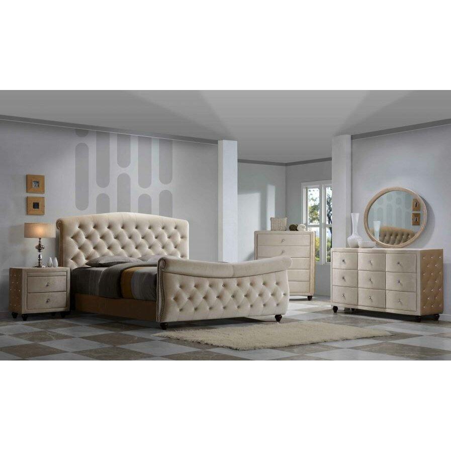Meridian Furniture Usa Diamond Sleigh Customizable Bedroom Set Reviews