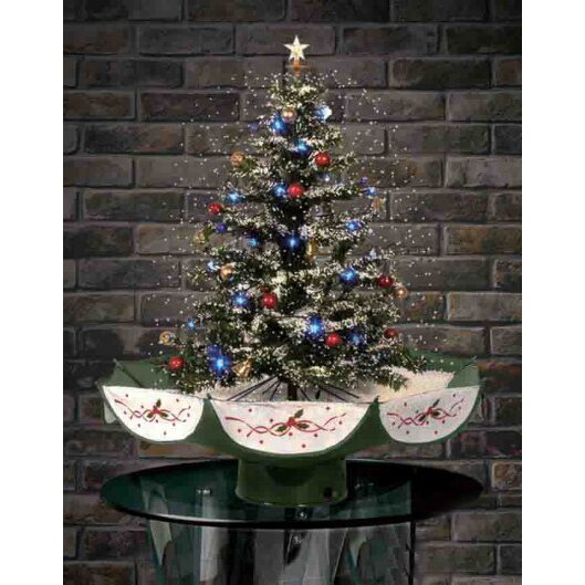 Northlight 2.5' Musical Snowing Artificial Christmas Tree with LED ...