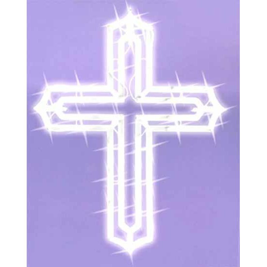 Northlight lighted religious cross easter window for 18 lighted christmas tree with stars window silhouette decoration