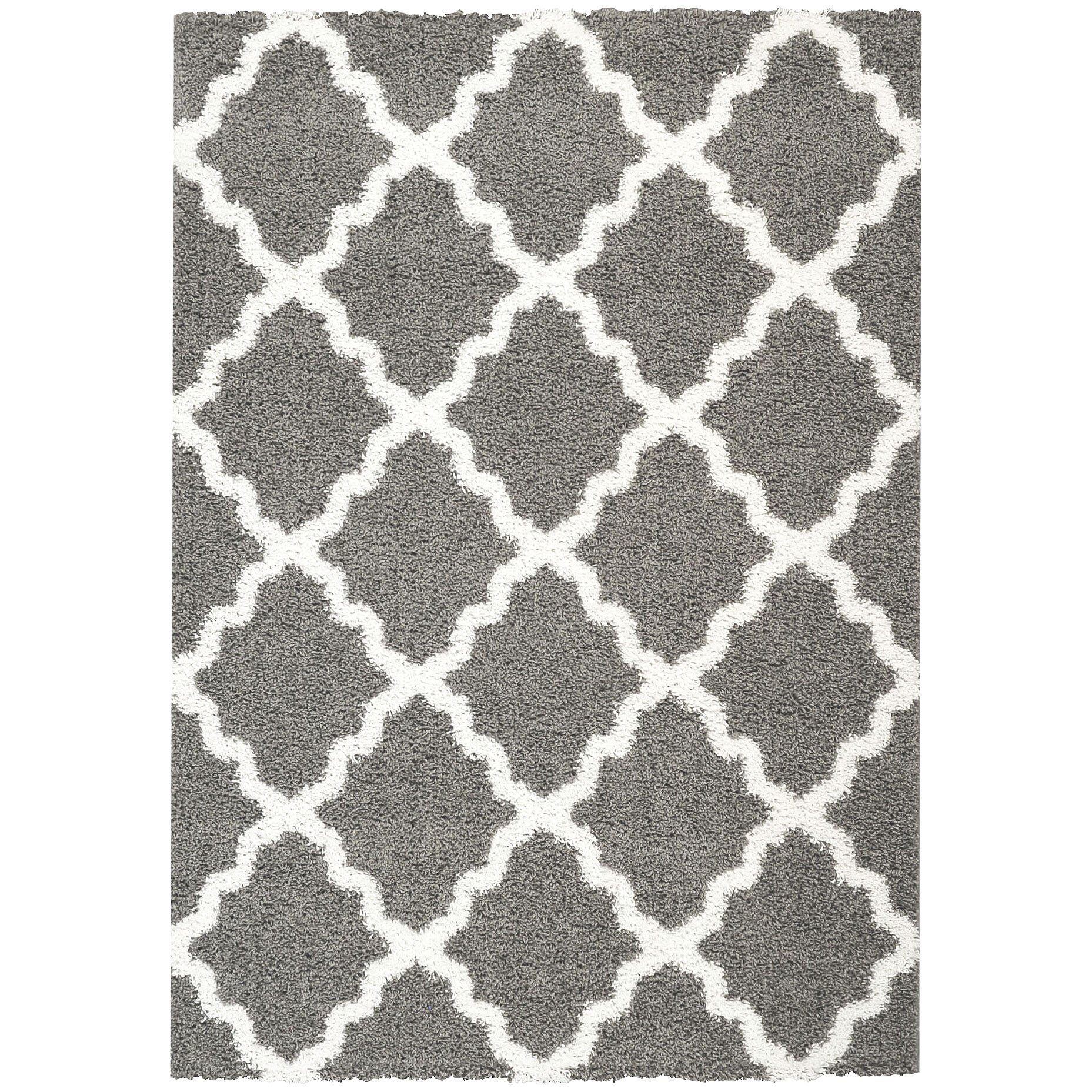 Rugnur Bella Maxy Home Moroccan Trellis Contemporary Gray