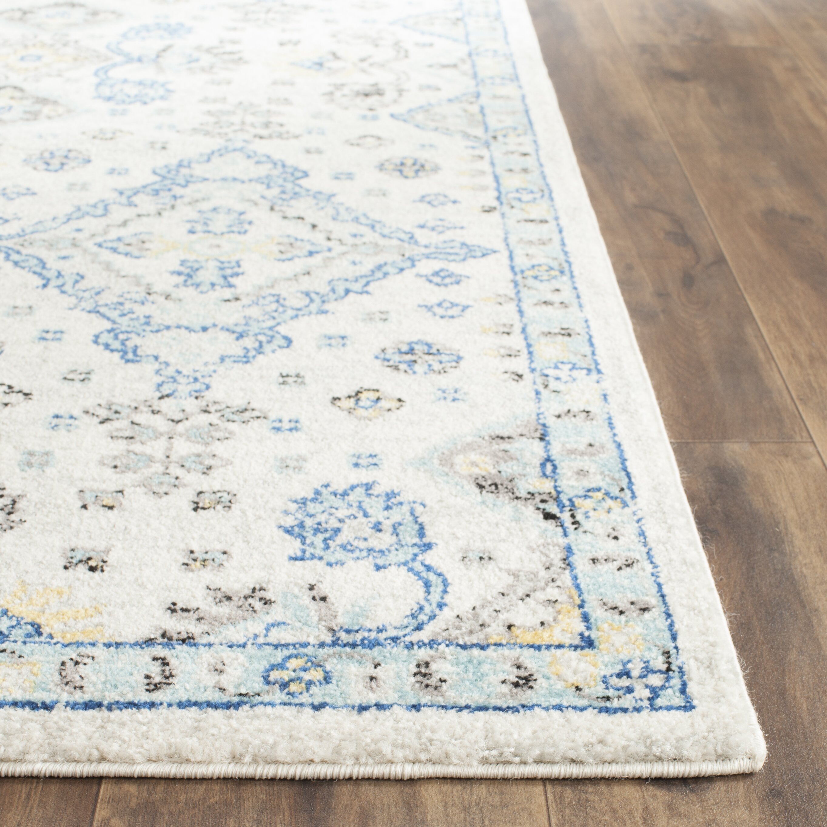 Lovely Darby Home Cou0026reg; Minonk Ivory/Light Blue Area Rug