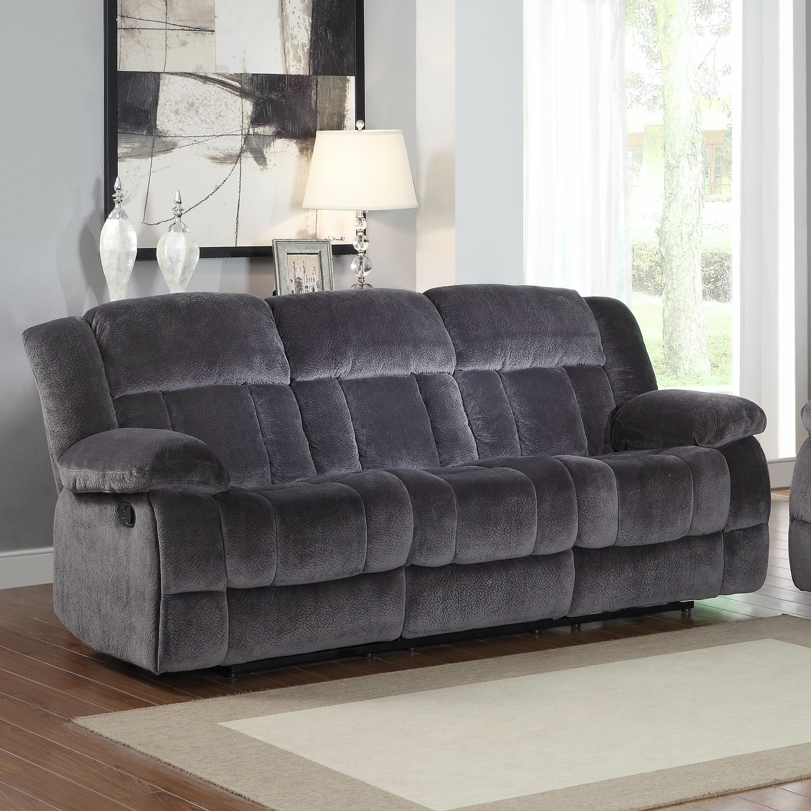Darby Home Co Dale Double Reclining Sofa Amp Reviews Wayfair