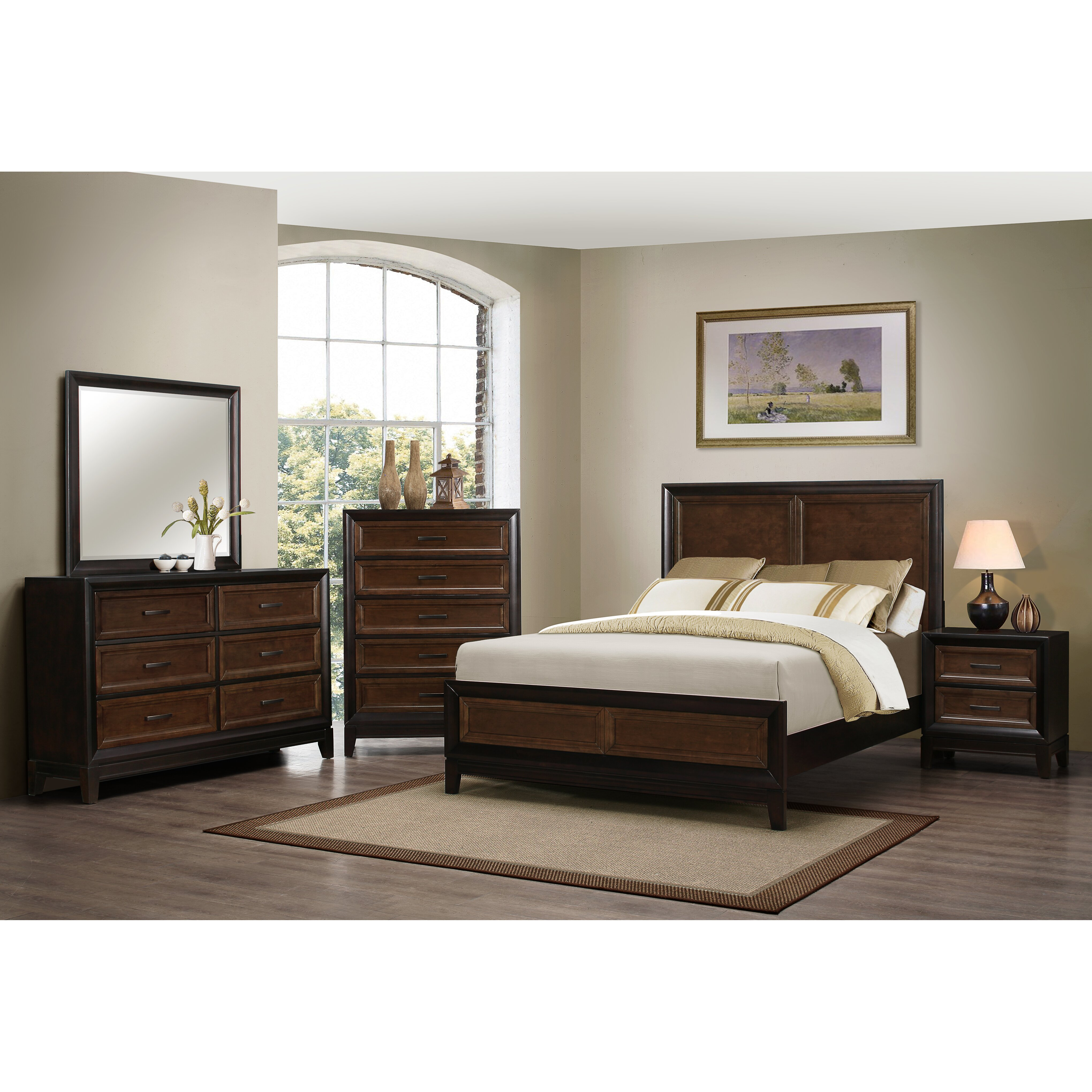 Darby Home Co Chernocke Panel Customizable Bedroom Set By