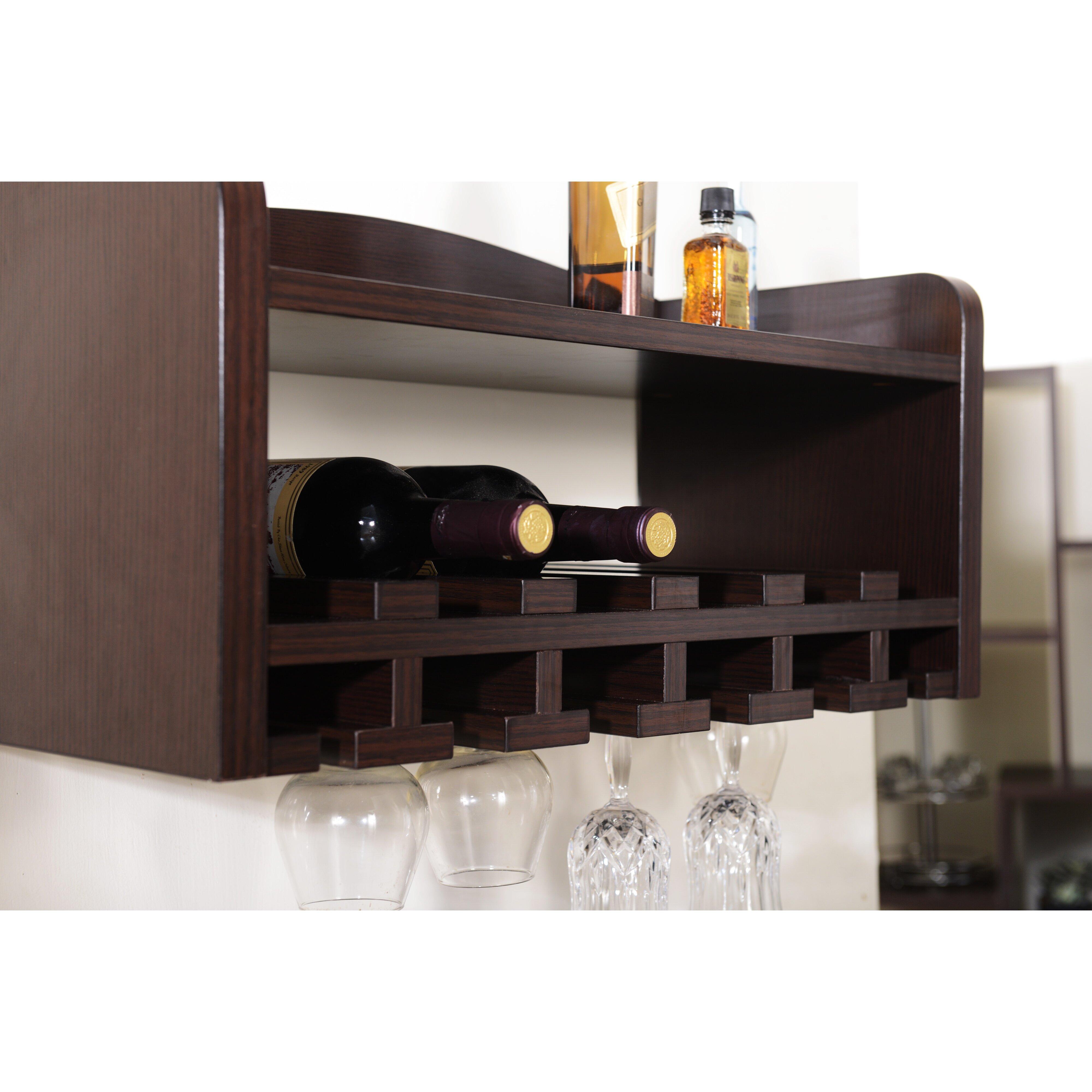 Darby Home Co Sullivan 6 Bottle Wall Mounted Wine Rack