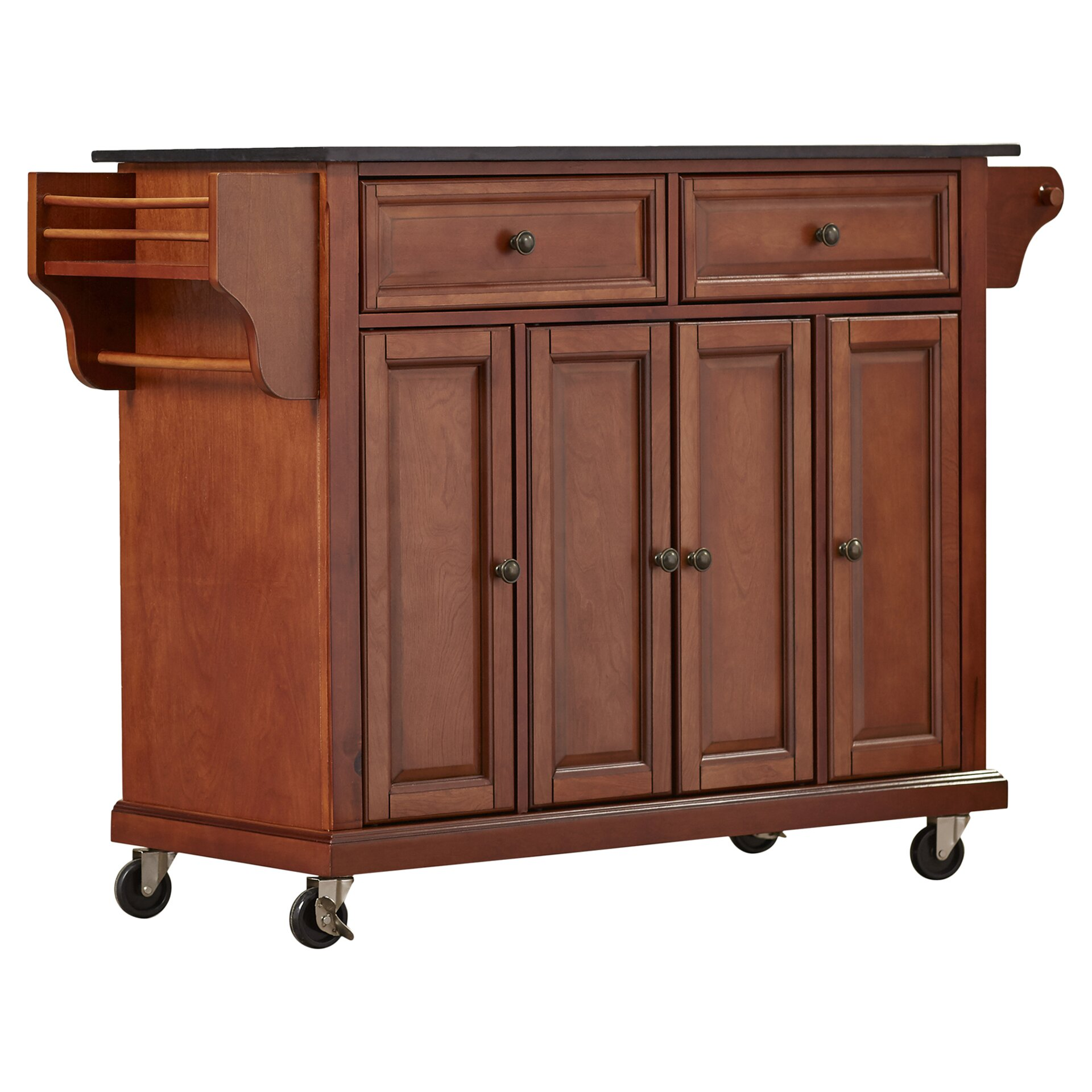 Granite Top Kitchen Cart Pottstown Kitchen Island With Granite Top Reviews Birch Lane