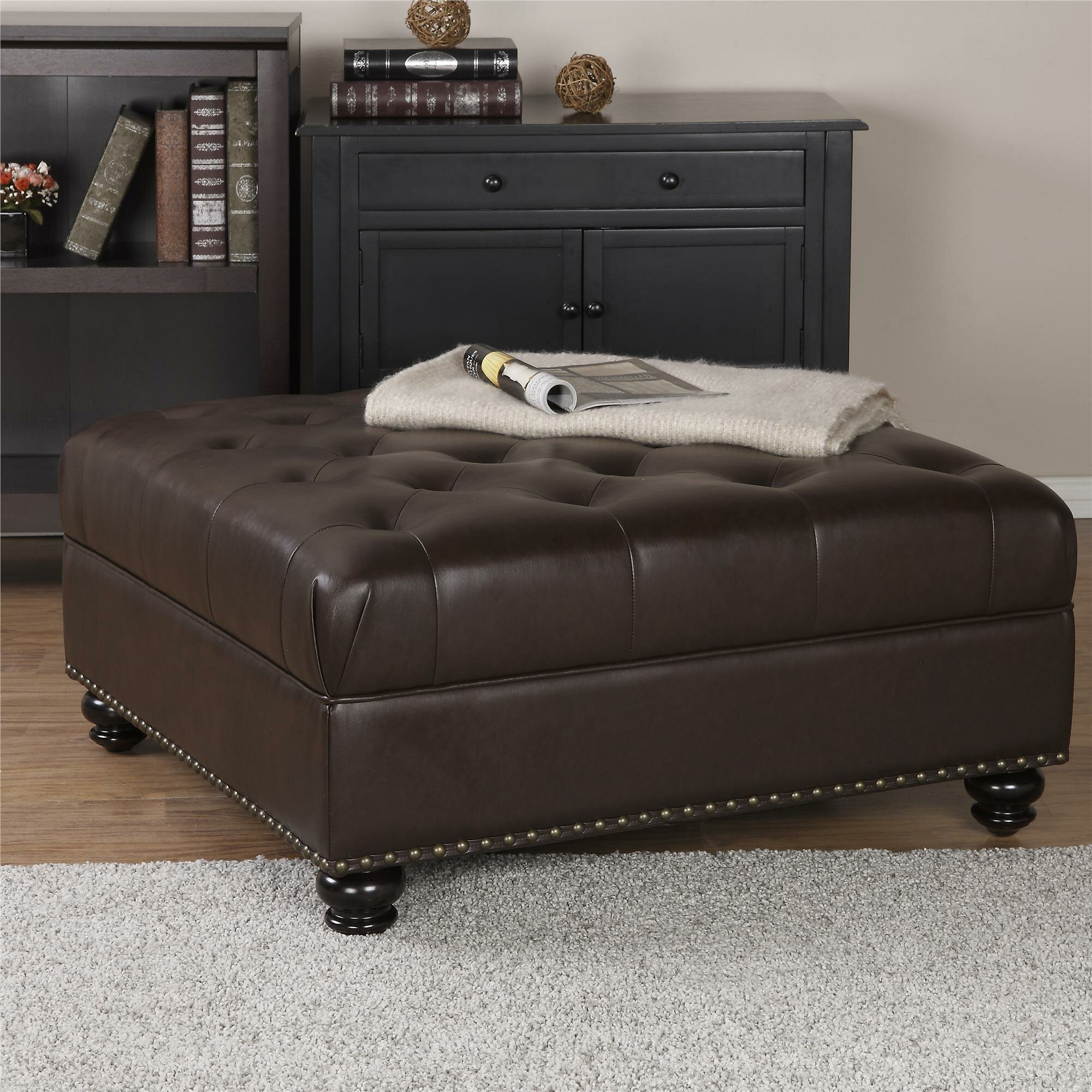 Darby Home Co Westview Tufted Ottoman Amp Reviews Wayfair