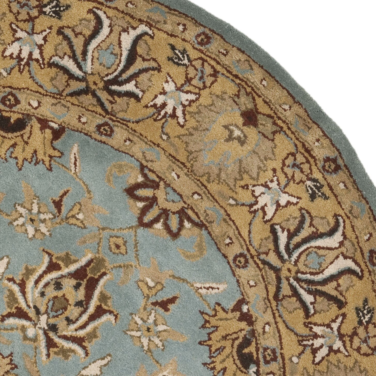 darby home co cardwell hand tufted blue gold area rug reviews. Black Bedroom Furniture Sets. Home Design Ideas