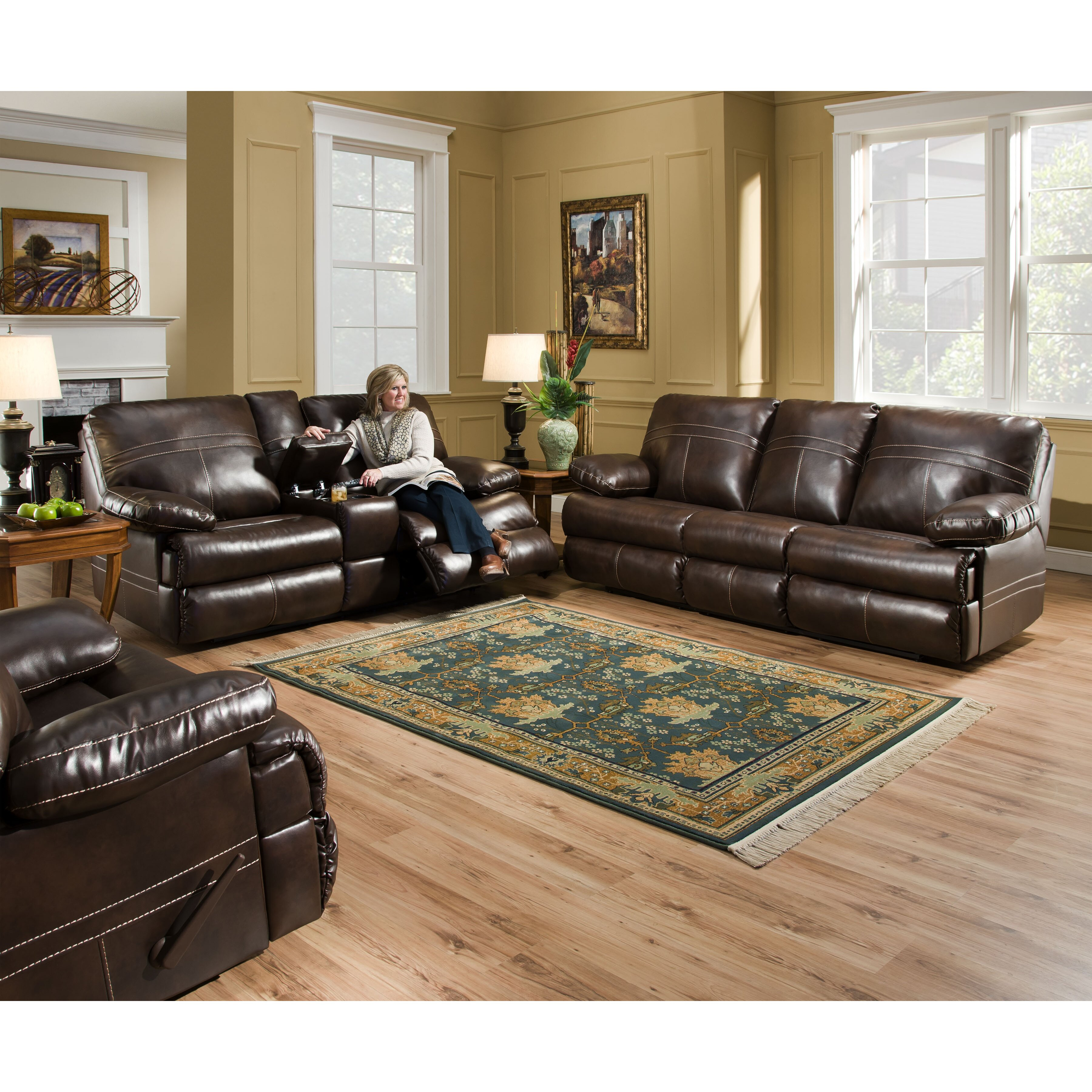 Quick view simmons upholstery obryan reclining living room collection