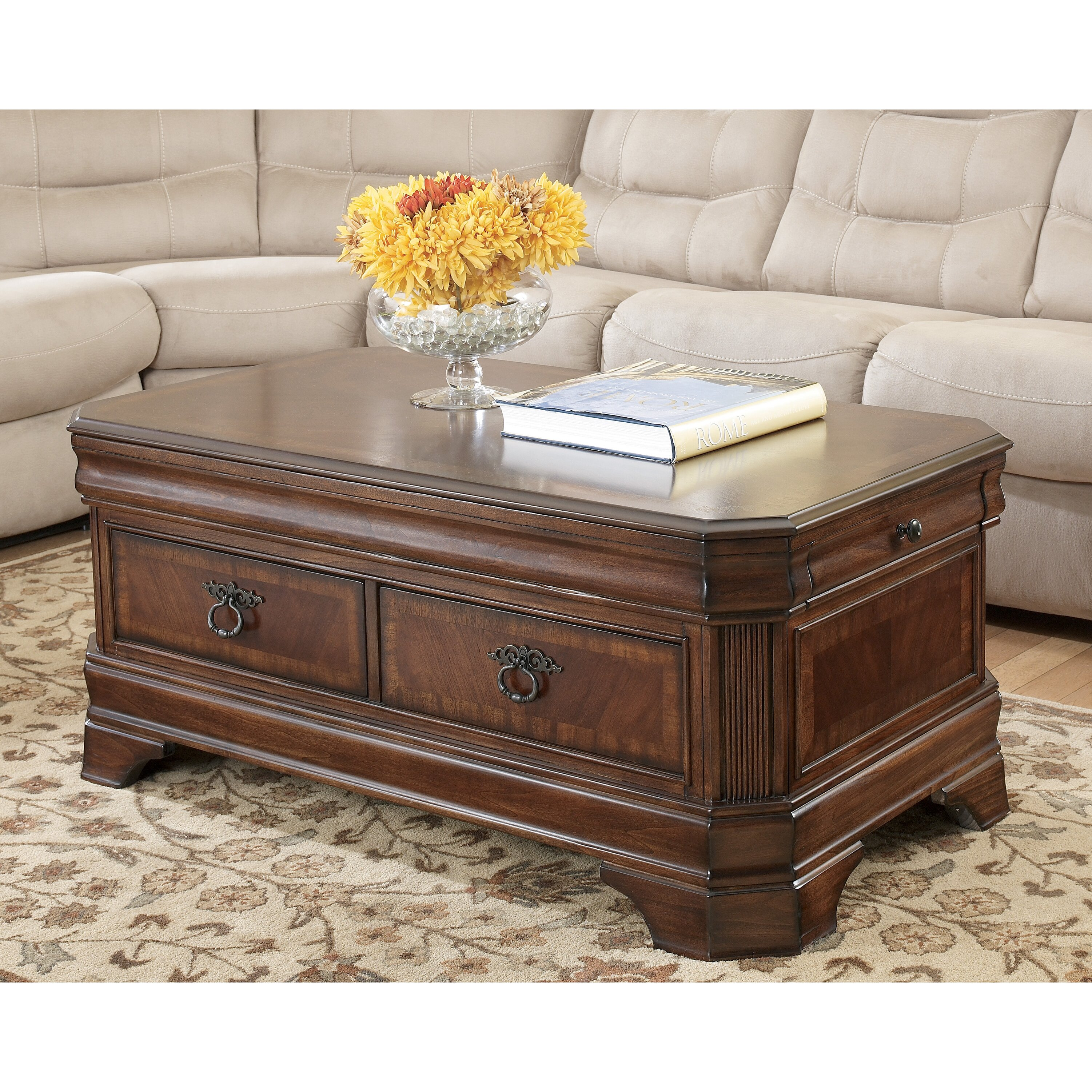 Dual Lift Top Coffee Table Darby Home Co Busse Trunk Coffee Table With Lift Top Reviews
