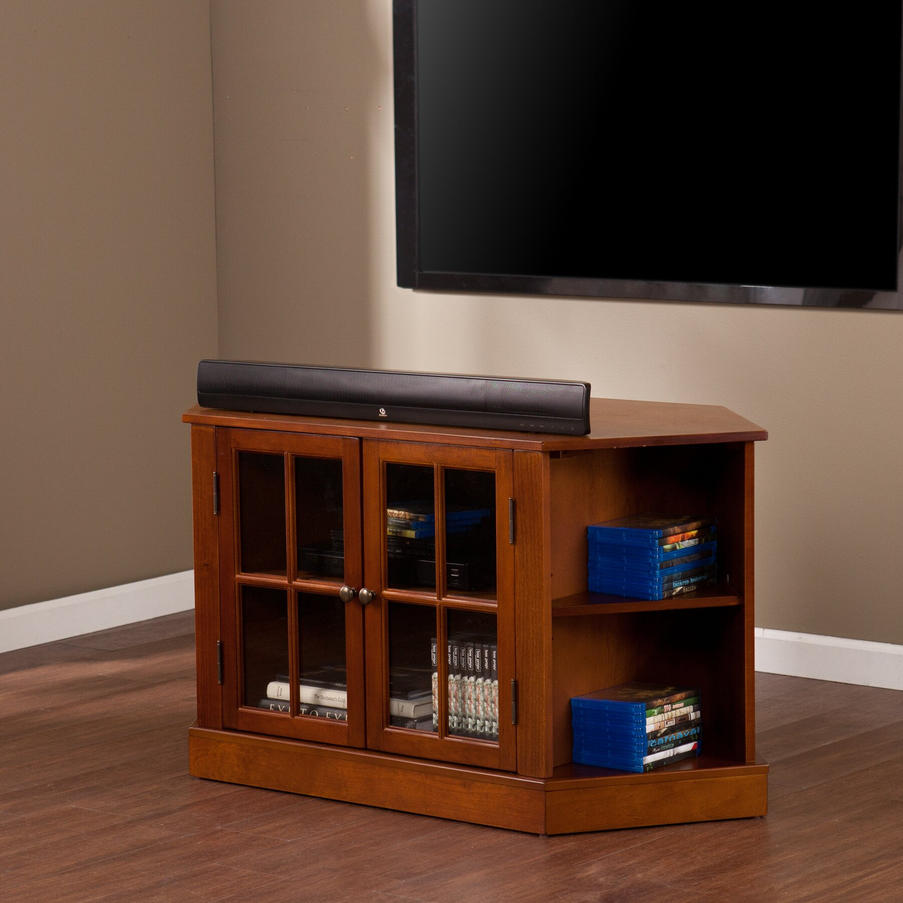 Darby Home Co Lasalle 46quot Corner TV Stand amp Reviews Wayfair
