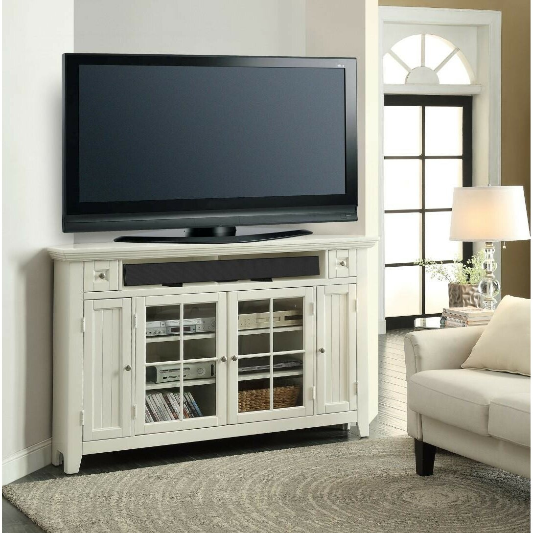 Darby Home Co Yates Corner TV Stand & Reviews