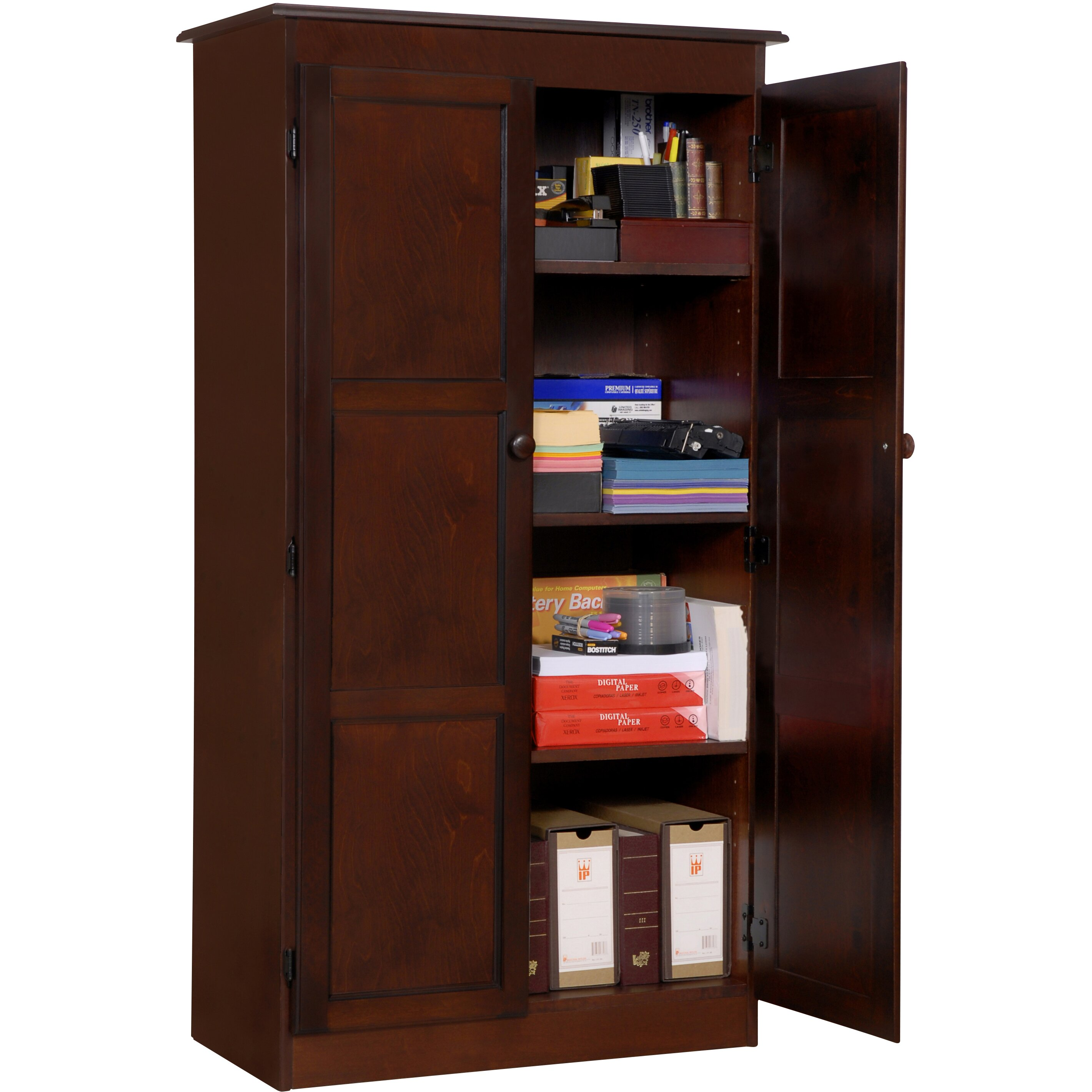 Cherry Wood Dvd Storage Cabinet Darby Home Co Fellers 2 Door Storage Cabinet Reviews Wayfair