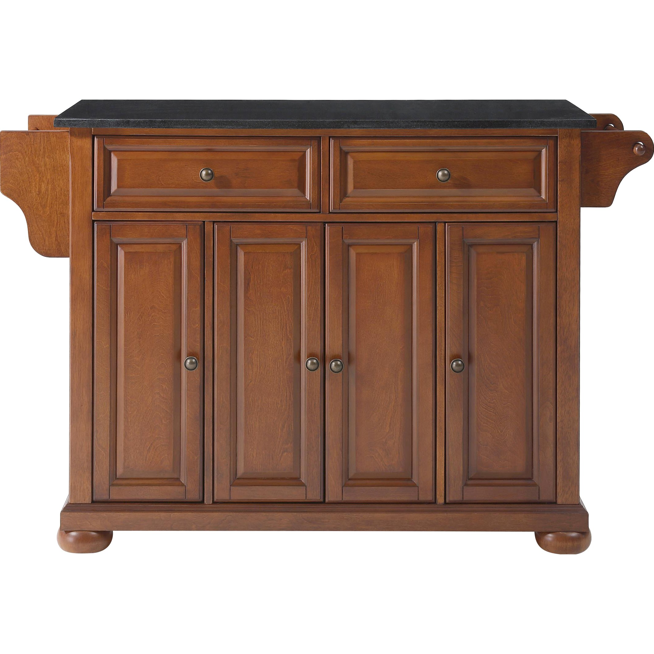 Granite Topped Kitchen Island Darby Home Co Pottstown Kitchen Island With Granite Top Reviews