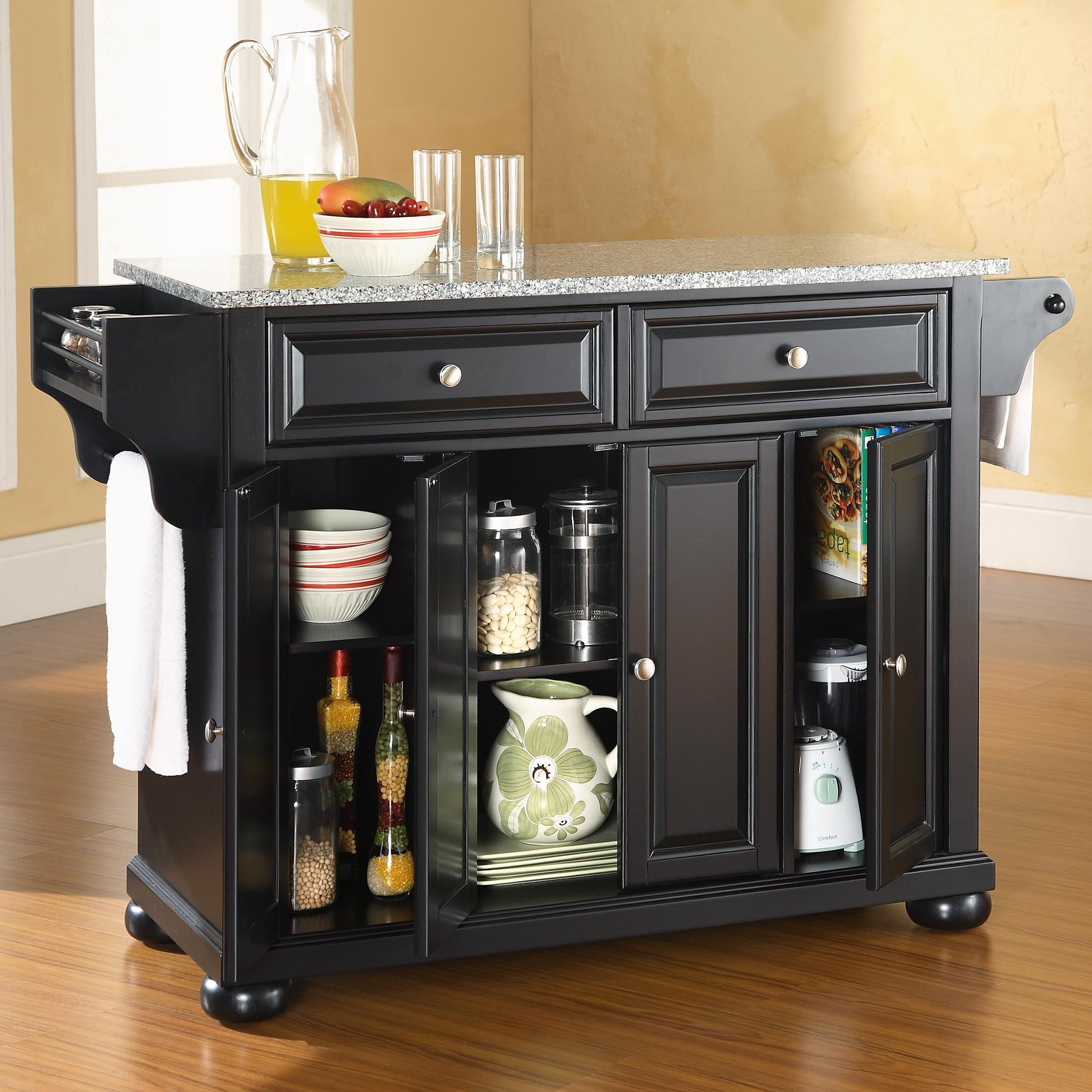 Granite Top Island Kitchen Table Darby Home Co Pottstown Kitchen Island With Granite Top Reviews