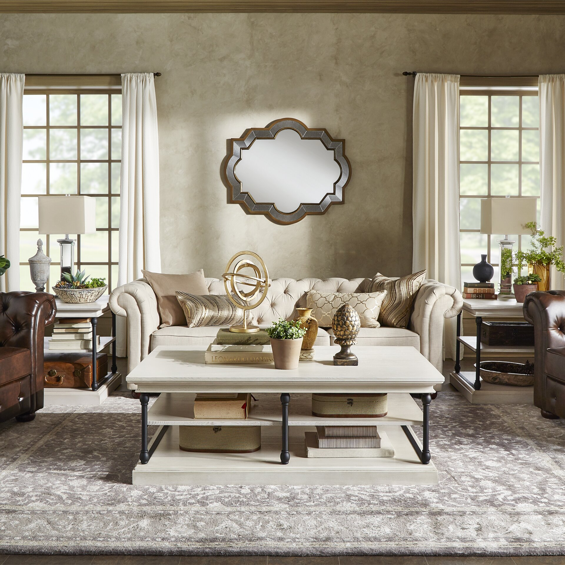 Living Room With Chesterfield Sofa Tilda 91 Chesterfield Sofa Reviews Joss Main