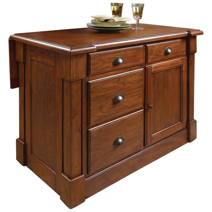 darby home co cargile kitchen island   reviews wayfair aspen home queen bedroom set aspen home bedroom furniture reviews