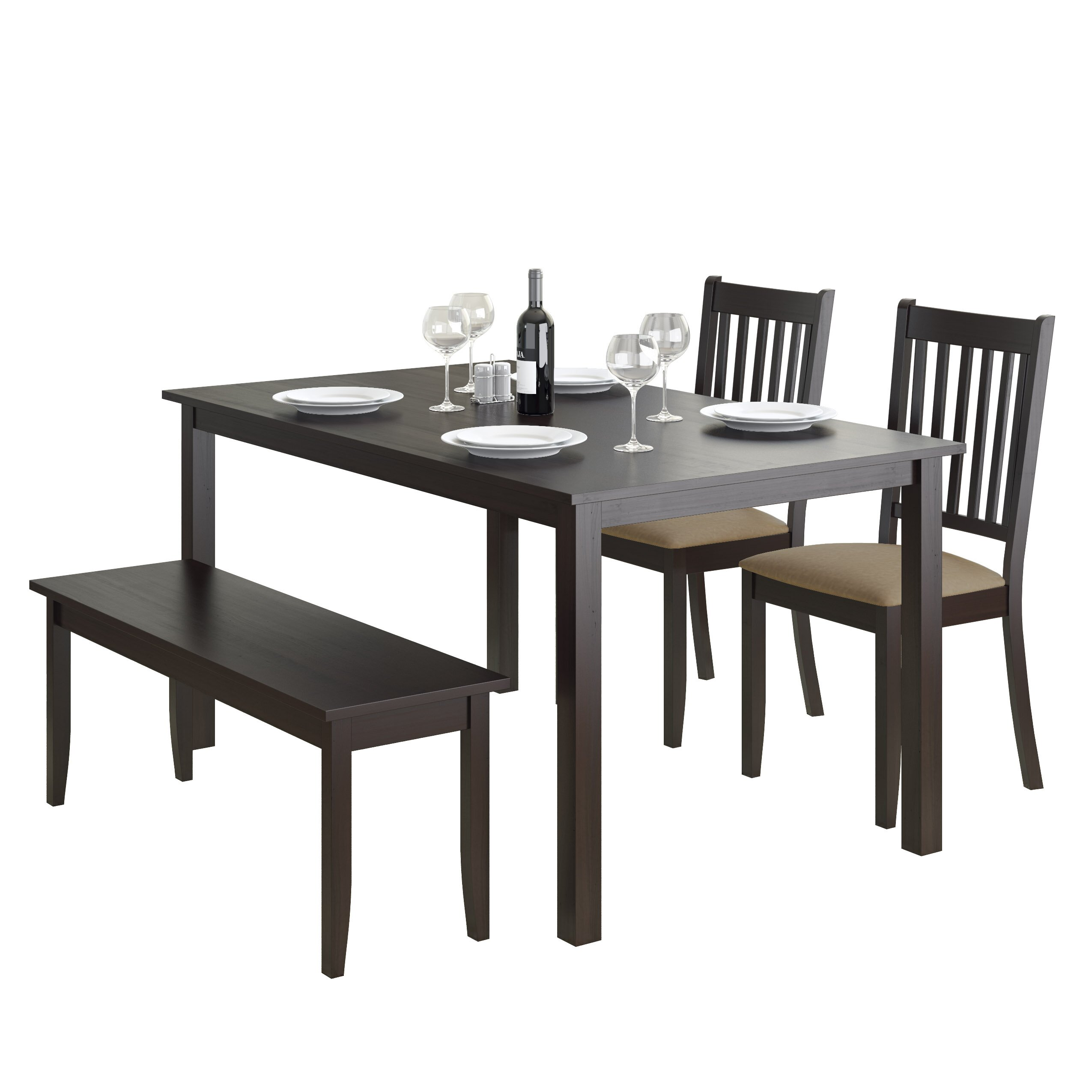 darby home co dunster  piece dining set  reviews  wayfair - darby home coreg dunster  piece dining set