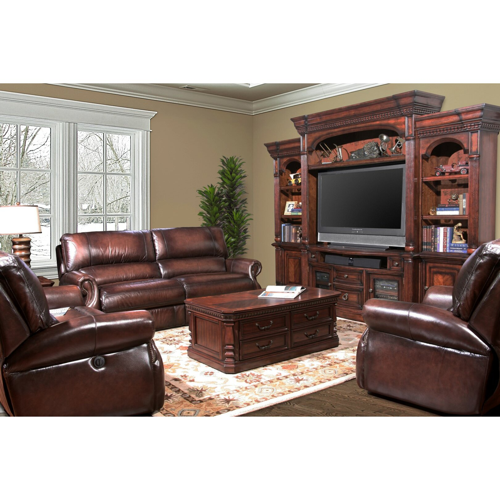 Leather Living Room Darby Home Co Hardcastle Leather Living Room Collection Reviews
