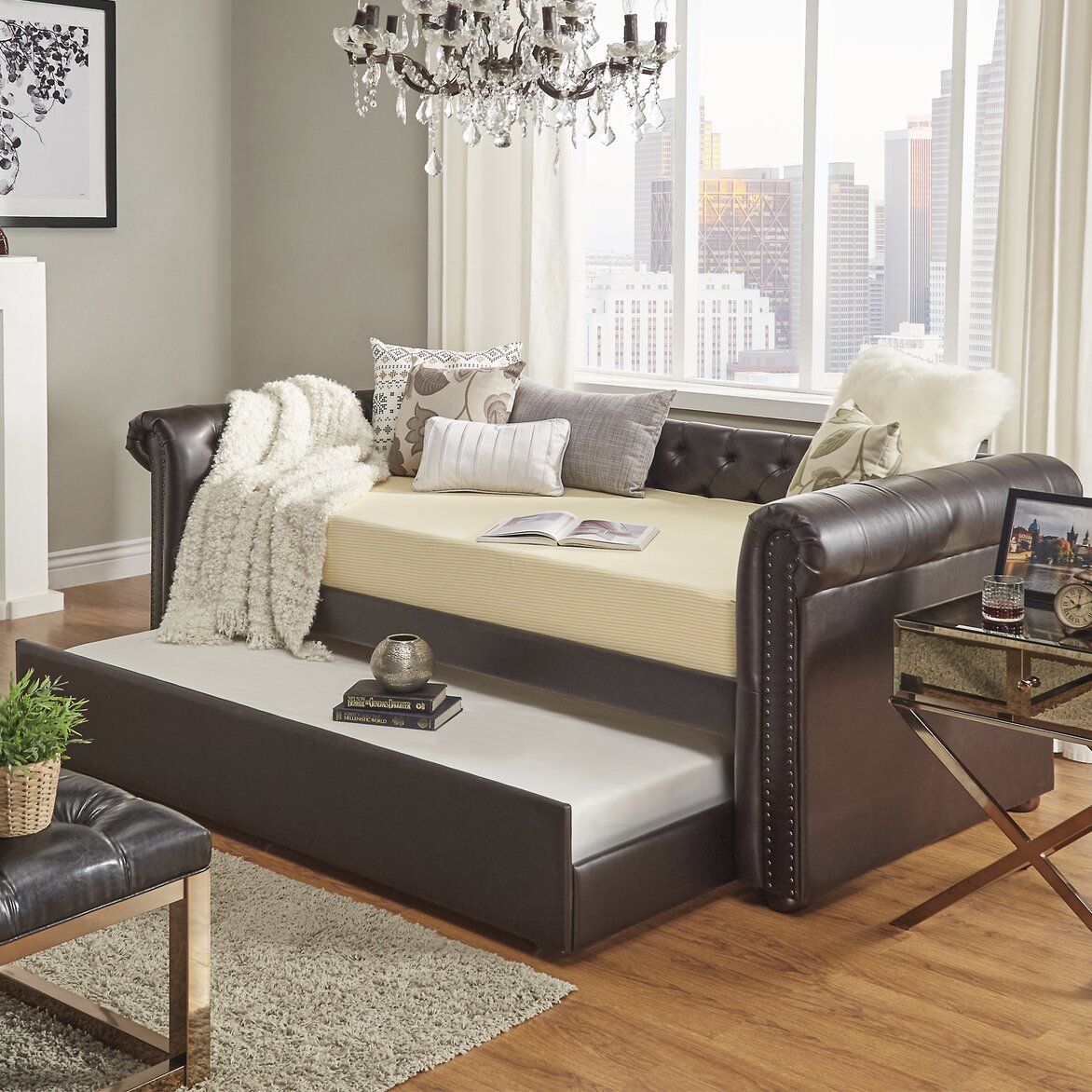 Day beds with pop up trundle - Kaminsky Daybed With Trundle