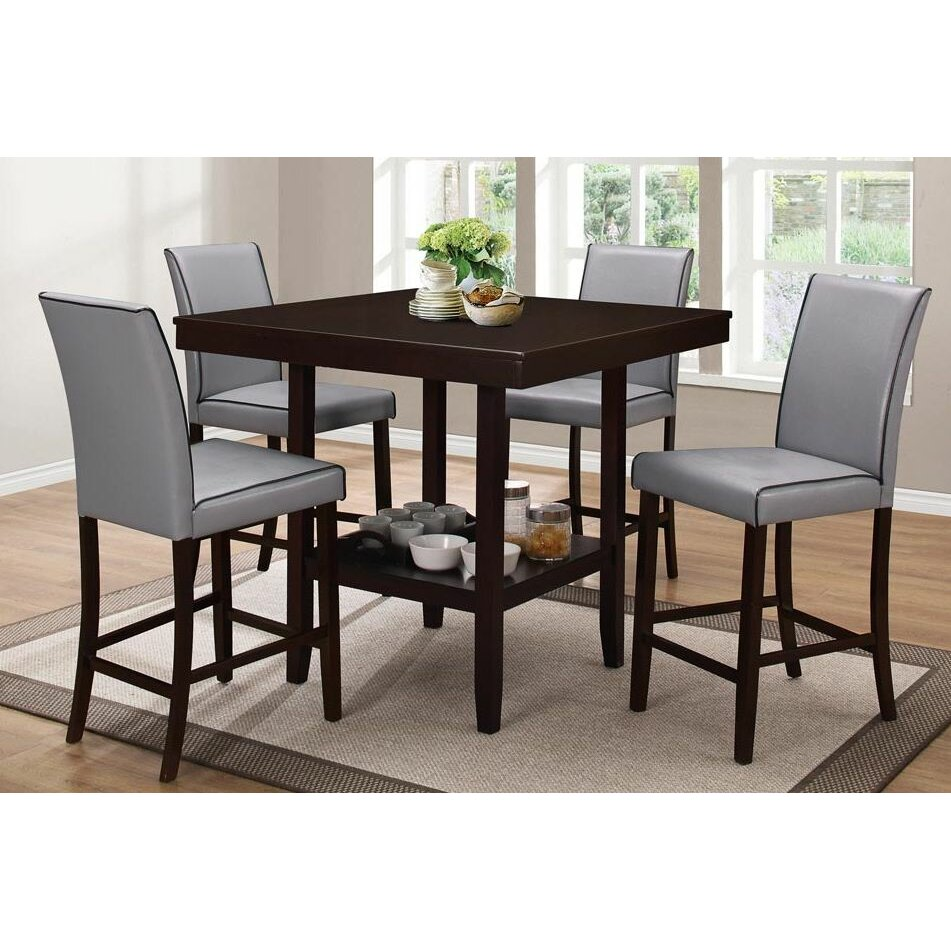 Counter Height Dining Sets 5 Piece : ... Home Co Dewart 5 Piece Counter Height Dining Set & Reviews Wayfair