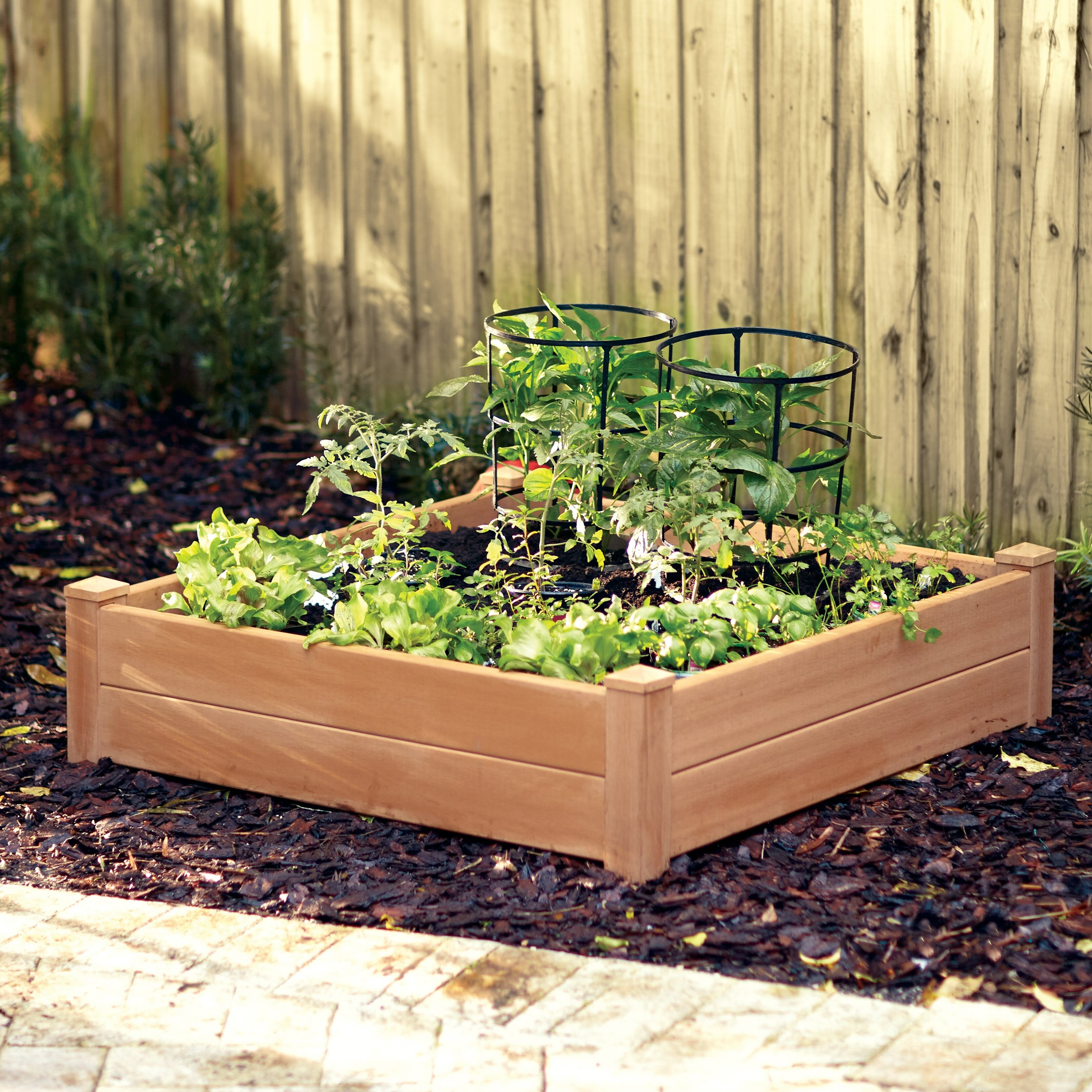 Raised Patio Planter: Darby Home Co Gustavson 4 Ft. X 4 Ft. Composite Raised
