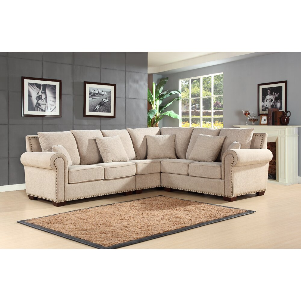 Darby Home Co Barnes Sectional & Reviews