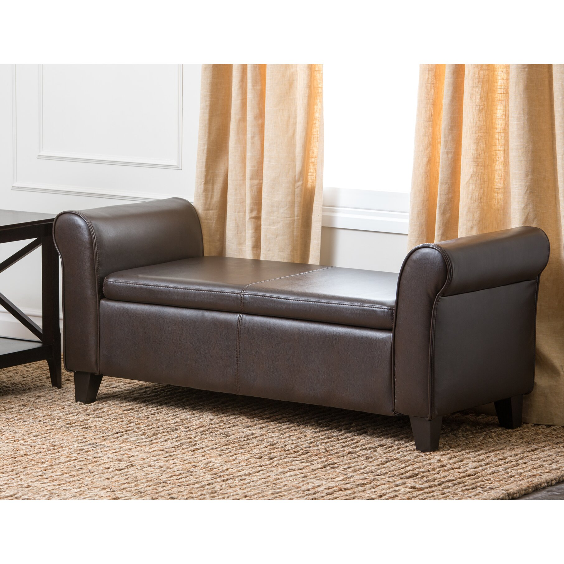 Leather Bedroom Bench Darby Home Co Fabric Storage Bedroom Bench Reviews Wayfair