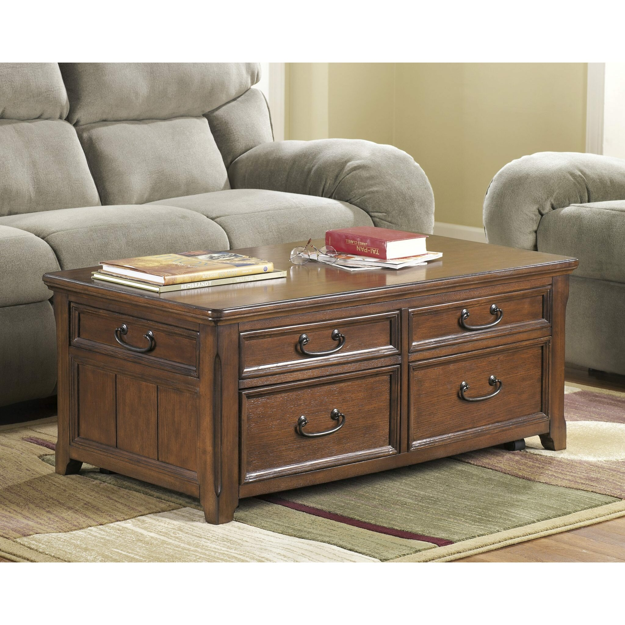 Dual Lift Top Coffee Table Darby Home Co Mathis Coffee Table Trunk With Lift Top Reviews