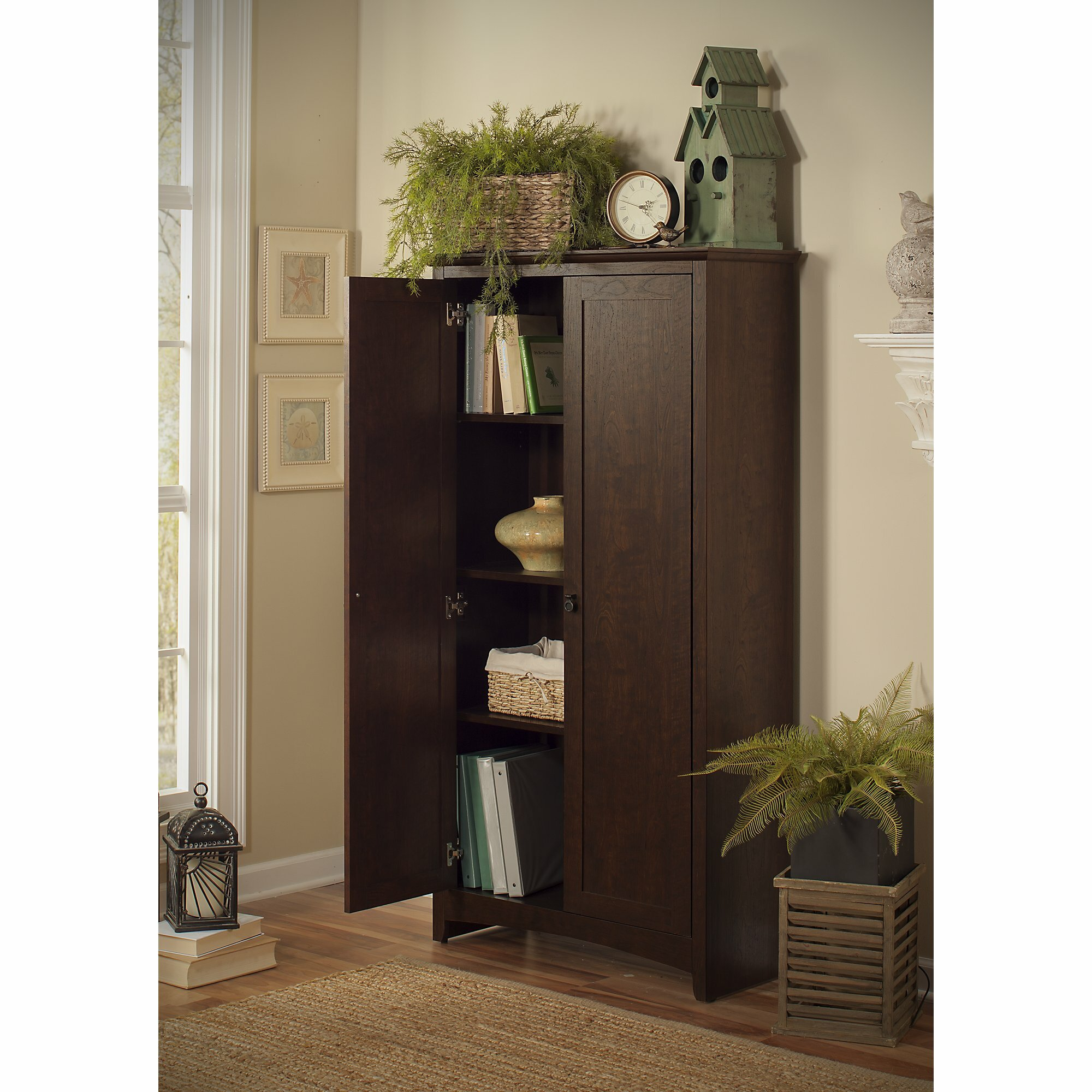 Darby home co tall storage cabinet with doors reviews for One day doors and closets reviews
