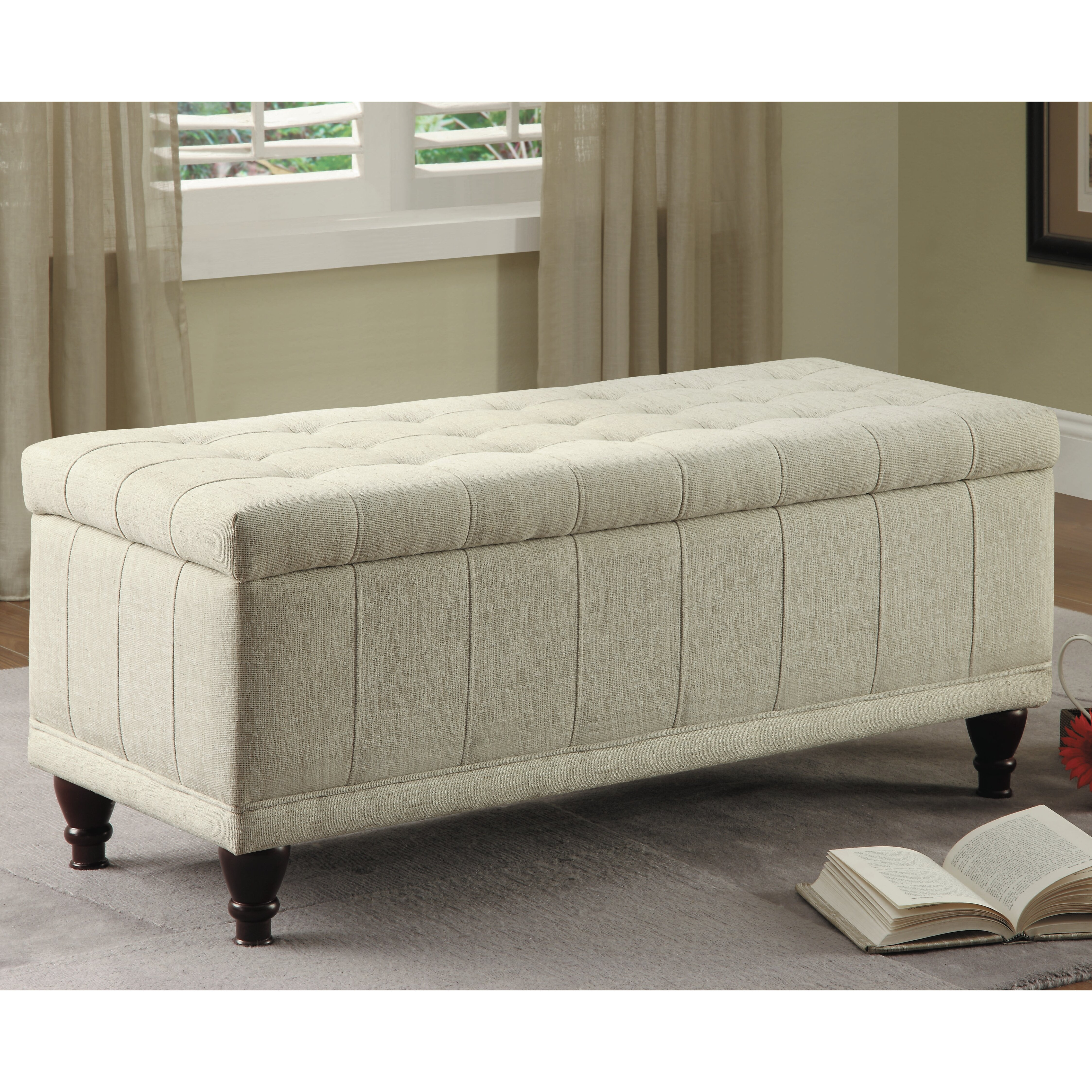 Ottoman For Bedroom Darby Home Co Attles Fabric Bedroom Storage Bedroom Bench