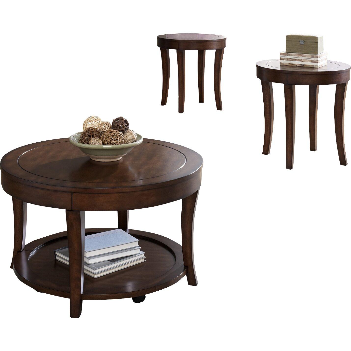 Coffee Table Set Of 3 Darby Home Co Locke 3 Piece Coffee Table Set Reviews Wayfair