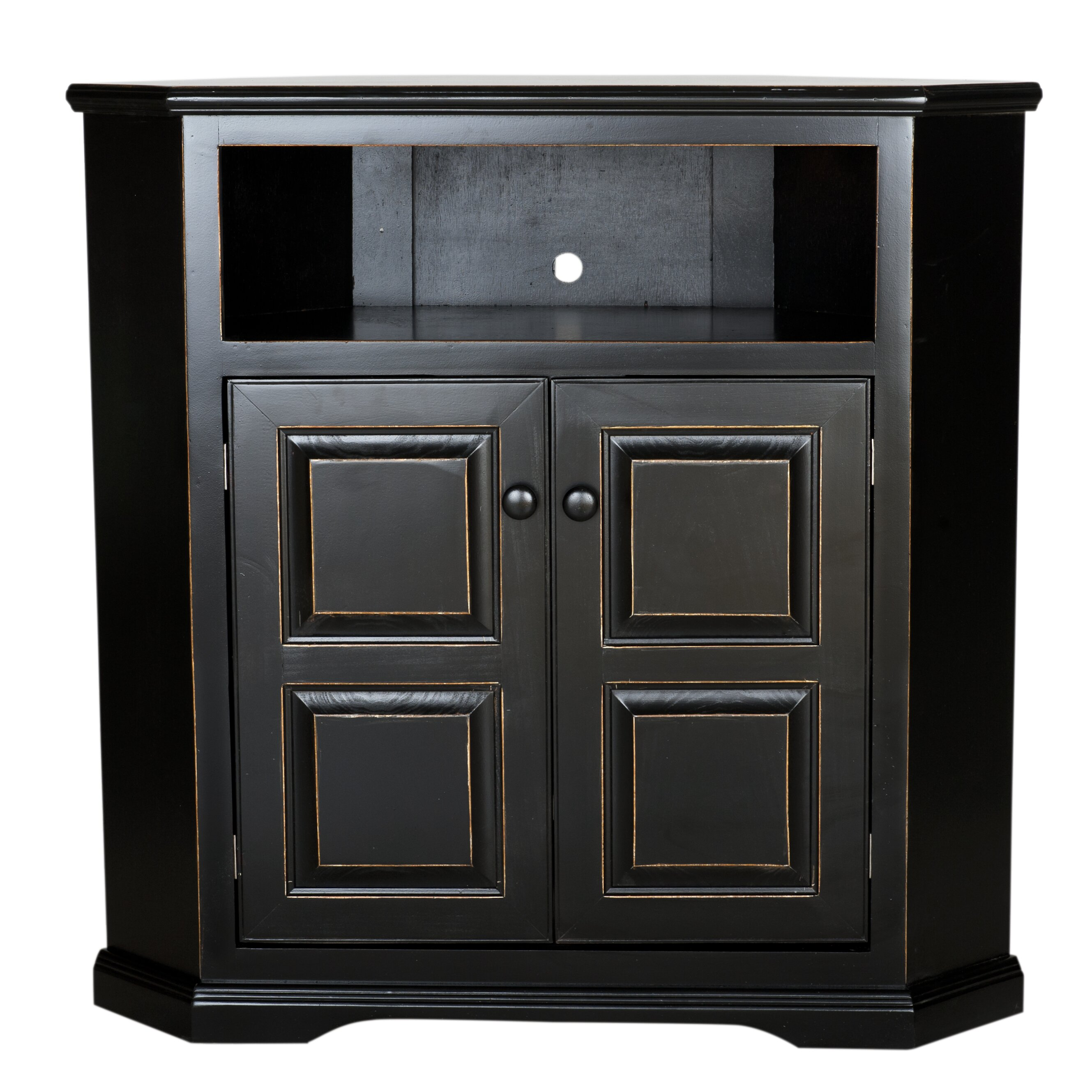 Corner Tv Cabinet With Hutch Corner Tv Stands Youll Love