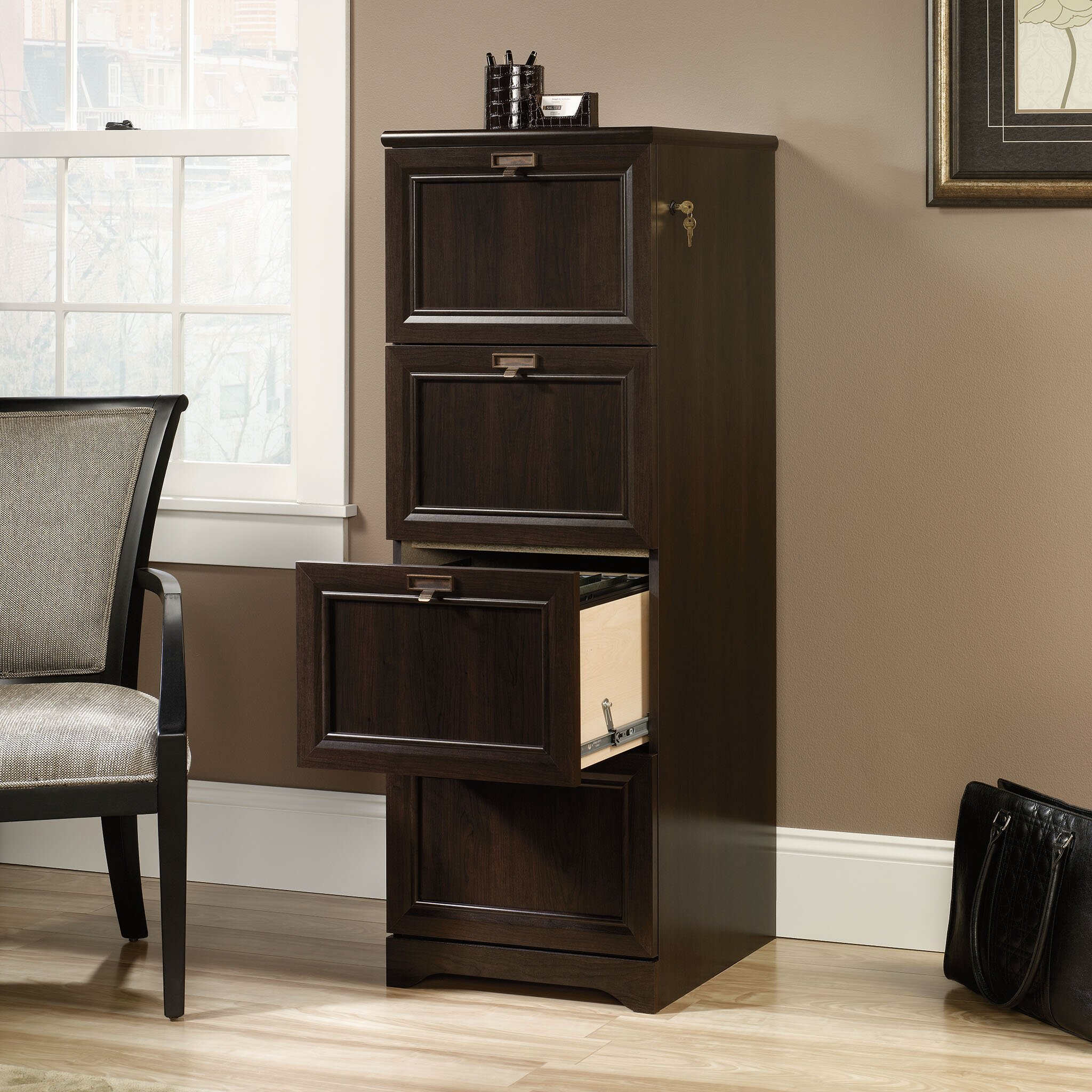 Fire Proof Filing Cabinets Darby Home Co Steadham 4 Drawer File Reviews Wayfair
