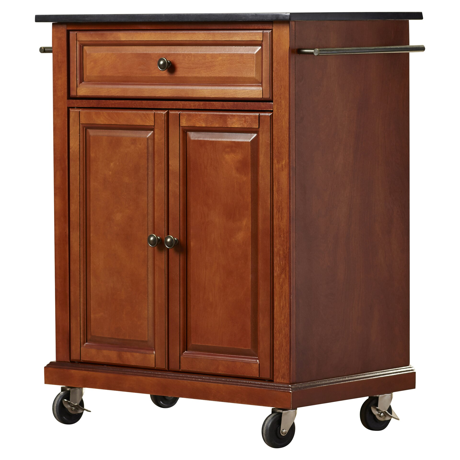 Granite Top Kitchen Cart Alcott Hill Celeste Kitchen Cart With Granite Top Reviews
