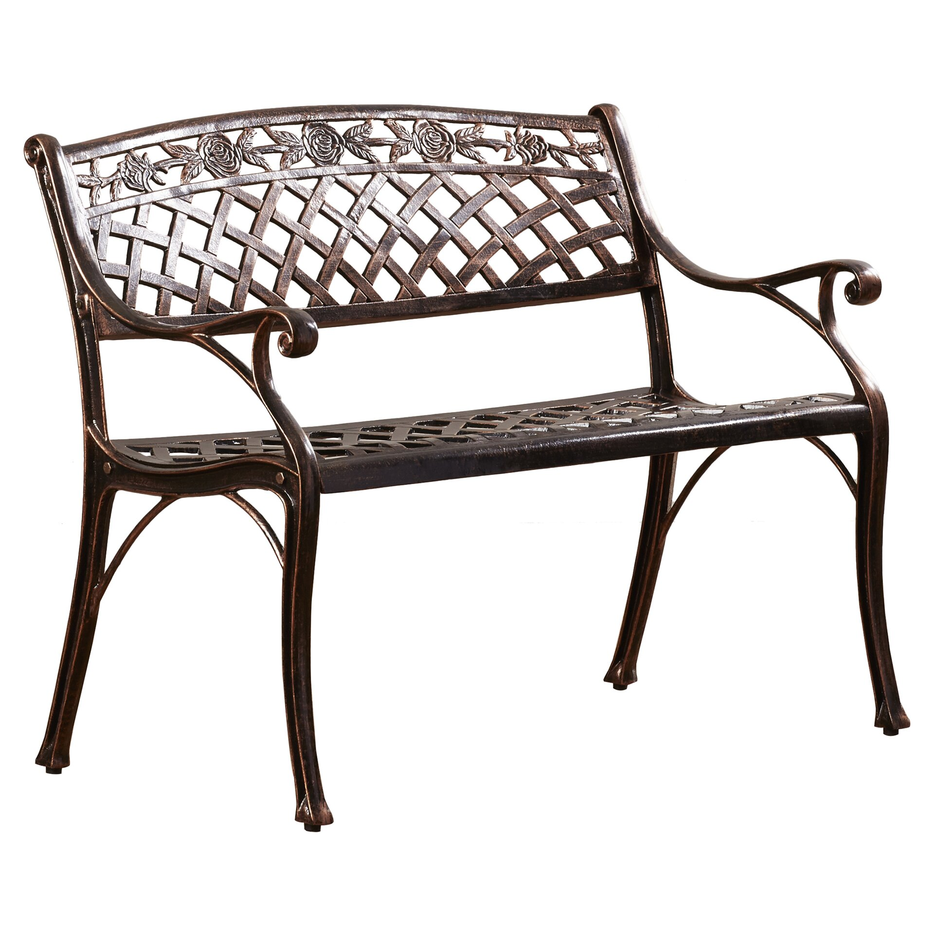 Alcott Hill Closson Cast Aluminum Garden Bench Reviews Wayfair