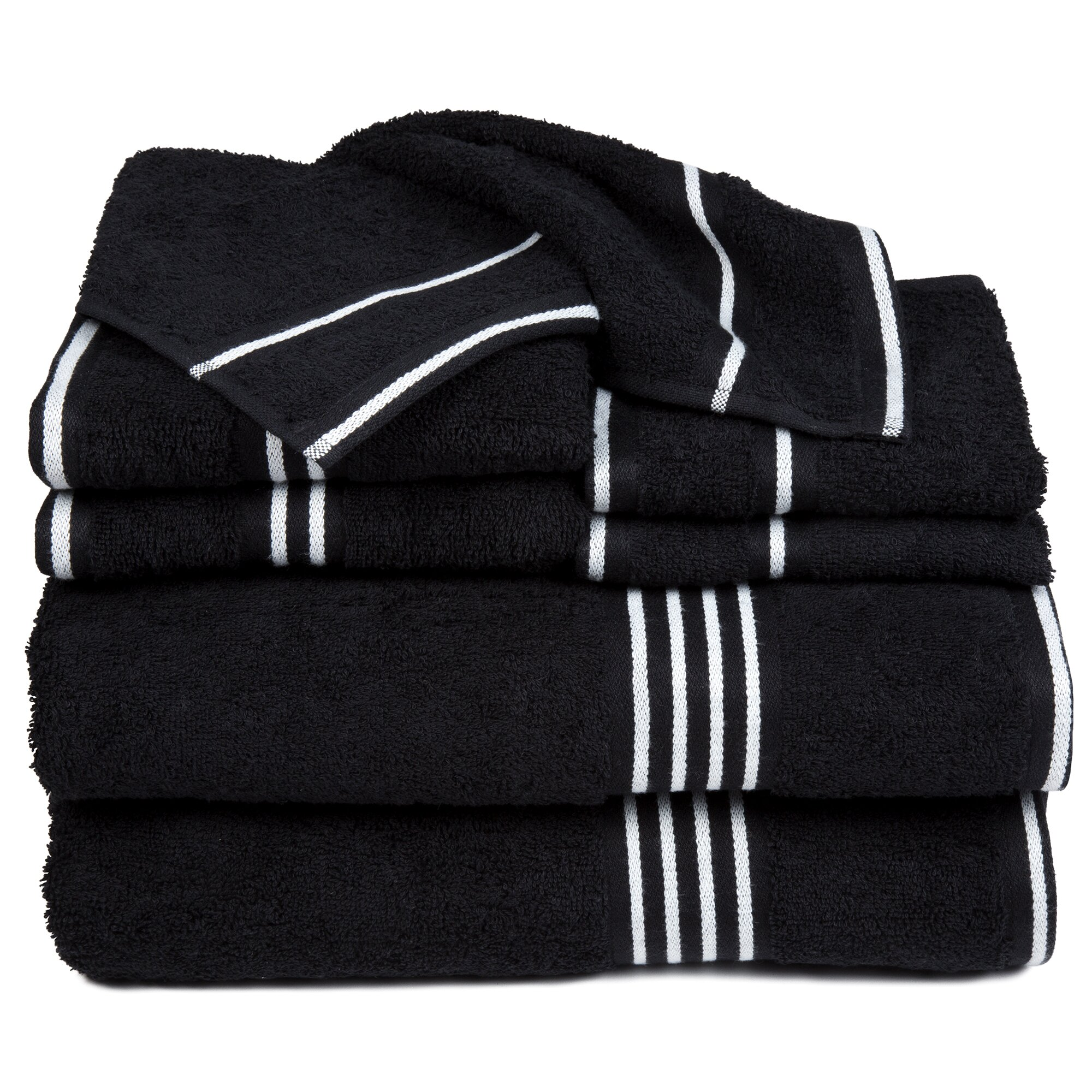 Decorative Hand Towels For Powder Room Alcott Hill Egyptian Quality Cotton 8 Piece Towel Set Reviews